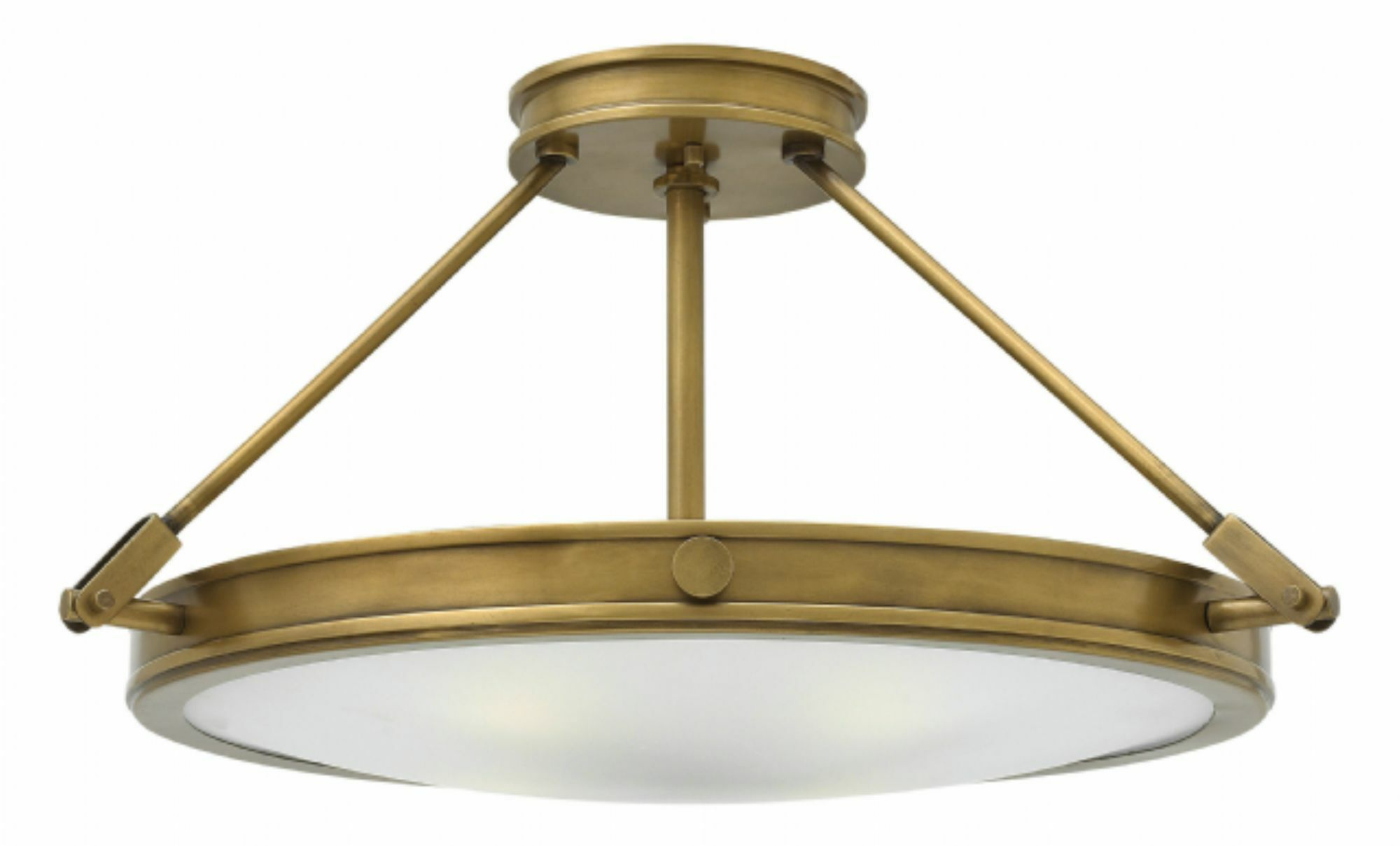 Driden 4-Light Semi Flush Mount Finish: Antique Nickel, Bulb Type: Incandescent
