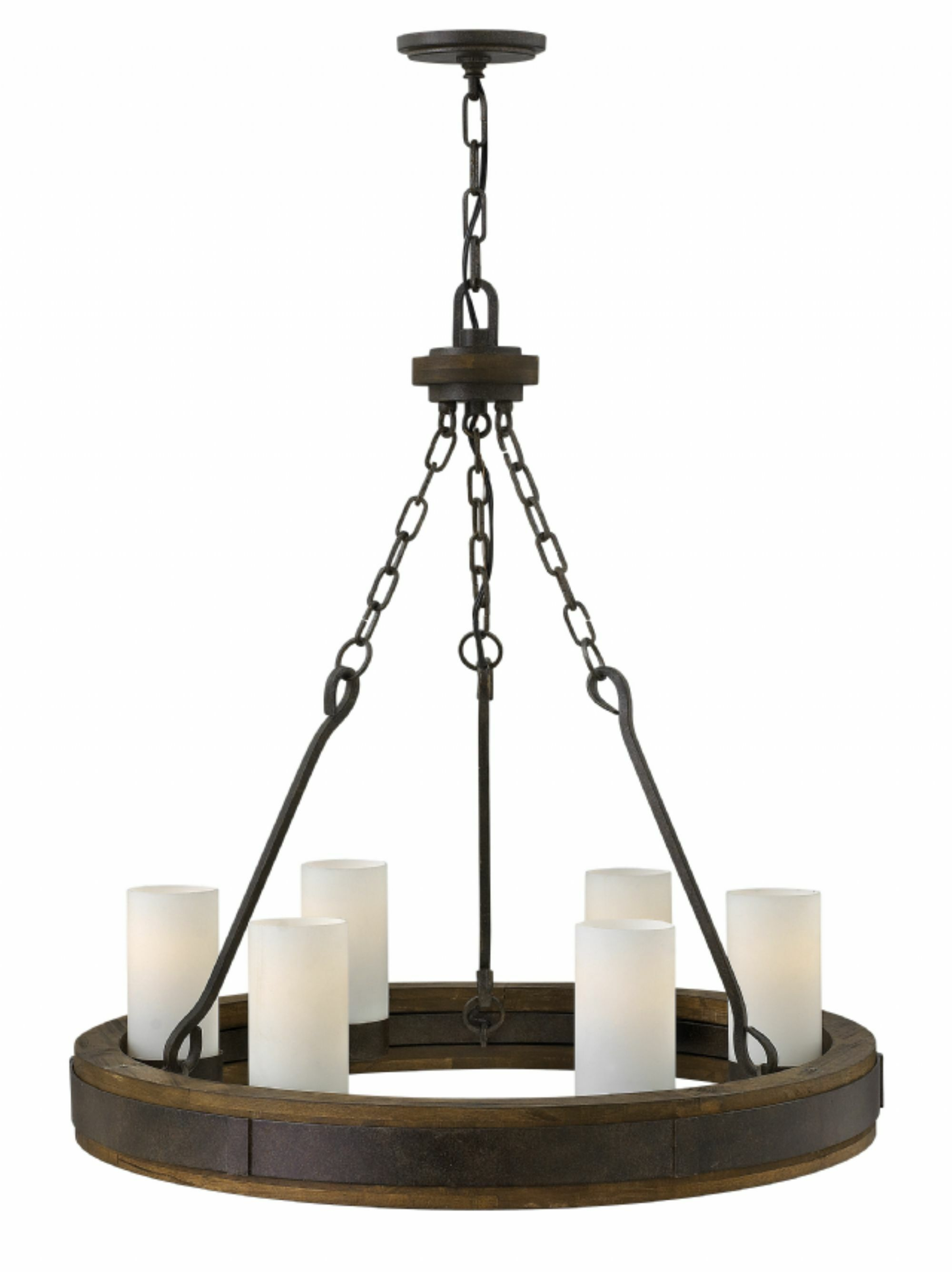 Claypool 6-Light Wagon Wheel Chandelier