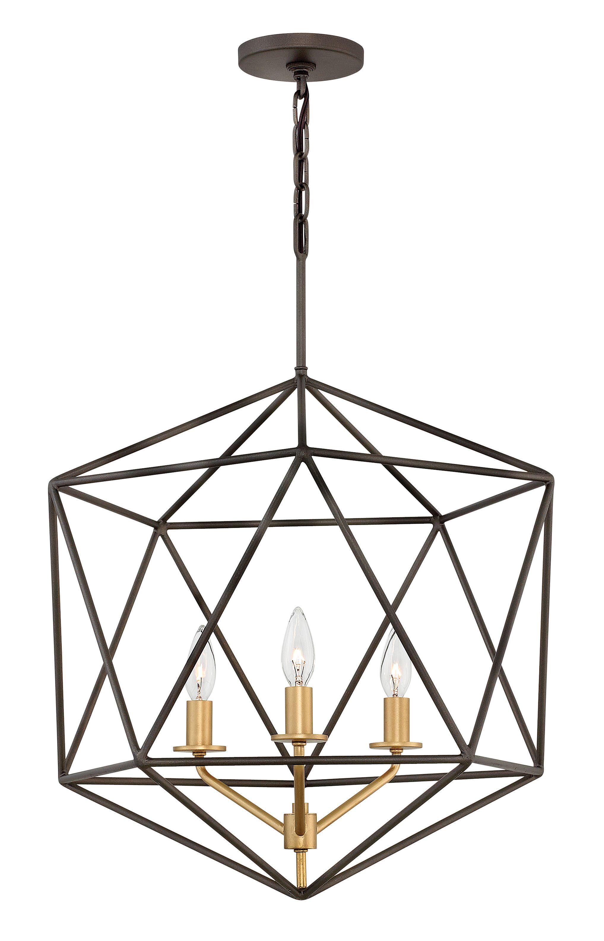 Astrid 3-Light Foyer Pendant Finish: Metallic Matte Bronze