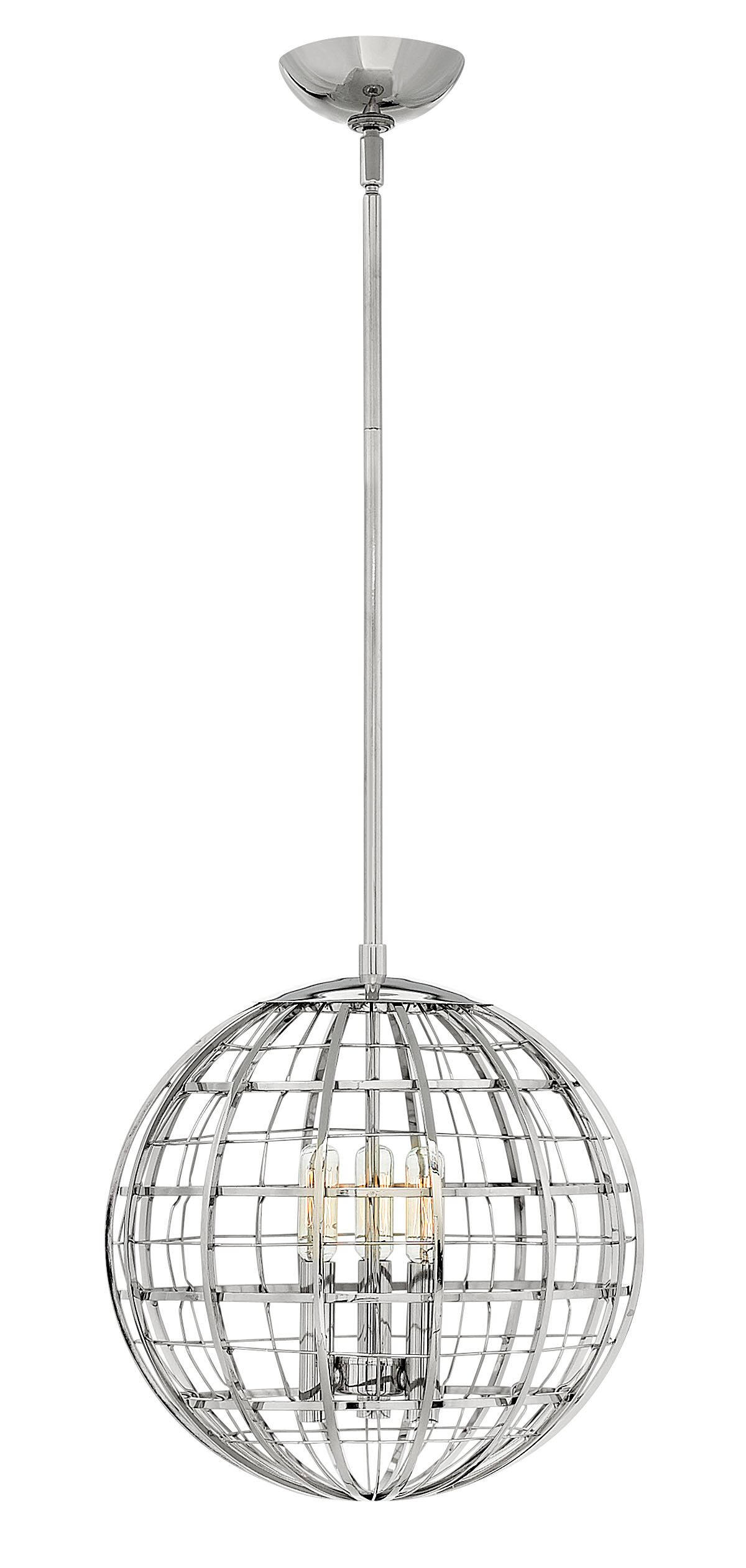 Terra 3-Light Globe Pendant Finish: Polished Nickel
