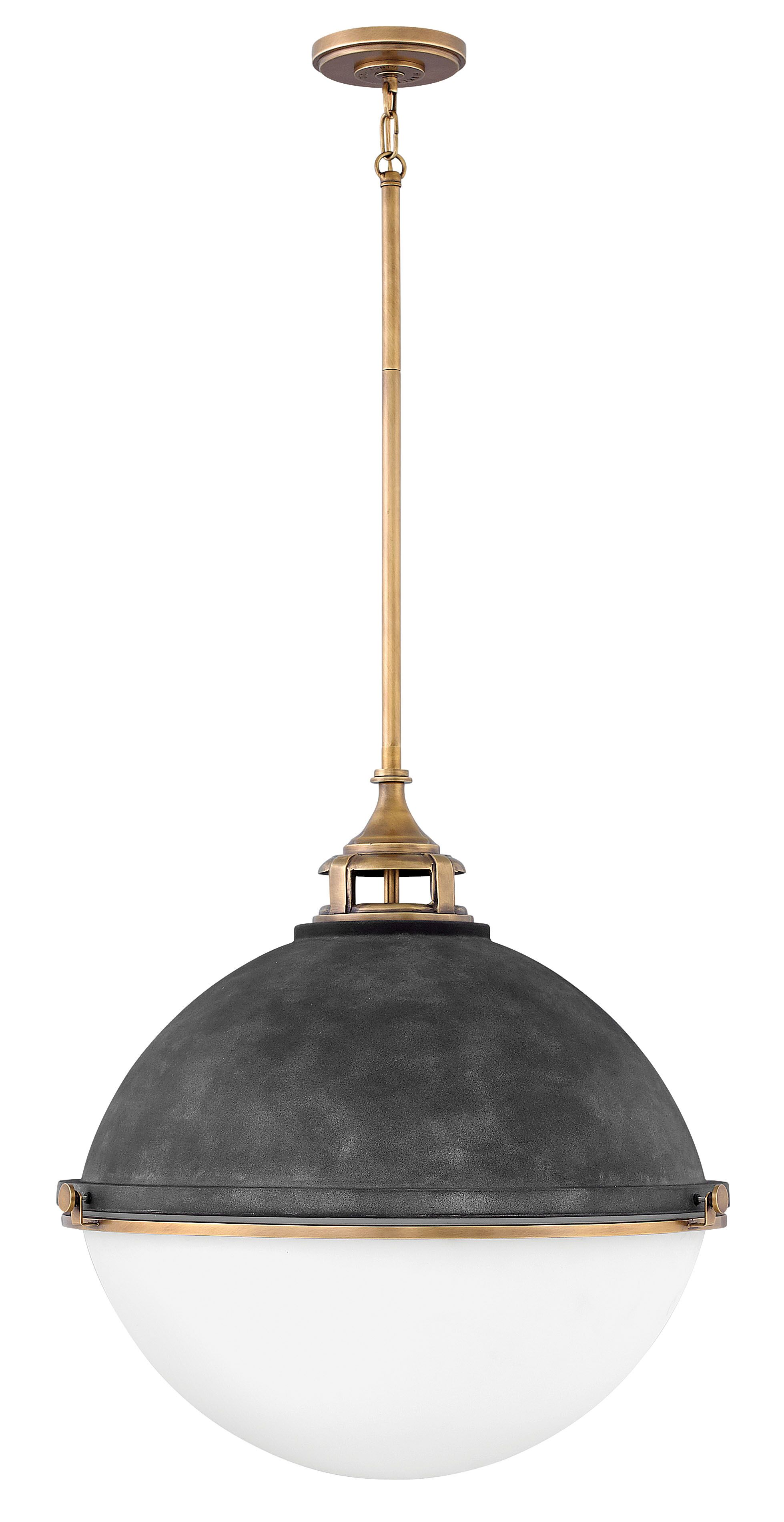Fletcher 3-Light Globe Pendant Finish: Aged Zinc