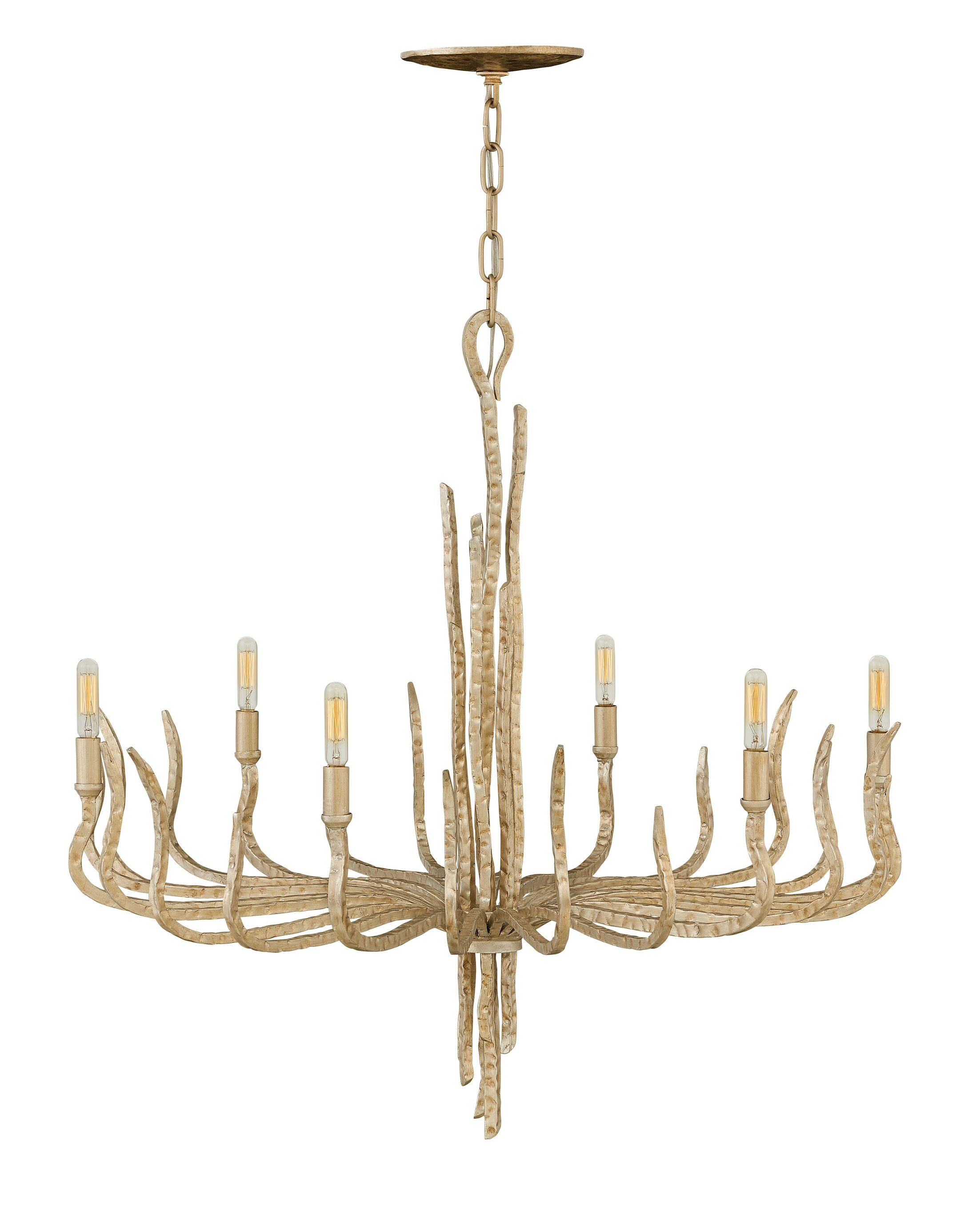 Pingree 6-Light Chandelier Finish: Champagne Gold