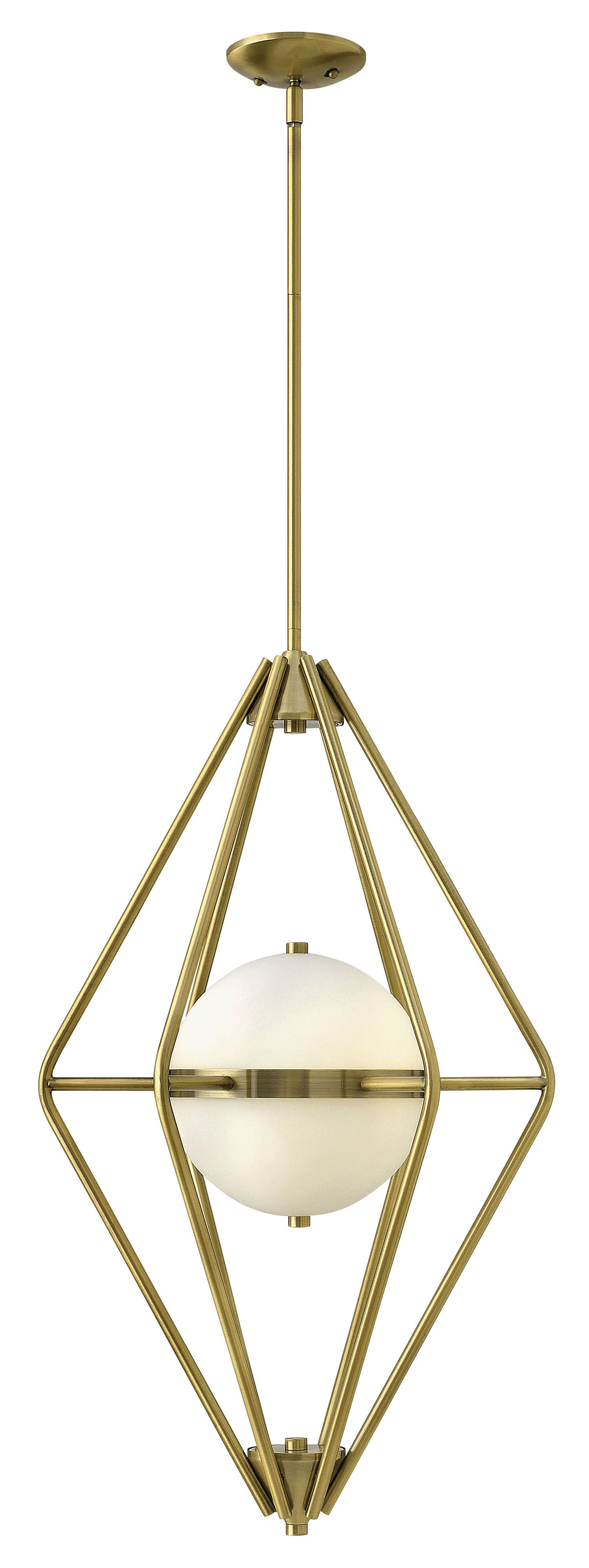 Spectra 2-Light Geometric Chandelier Finish: Retro Brass