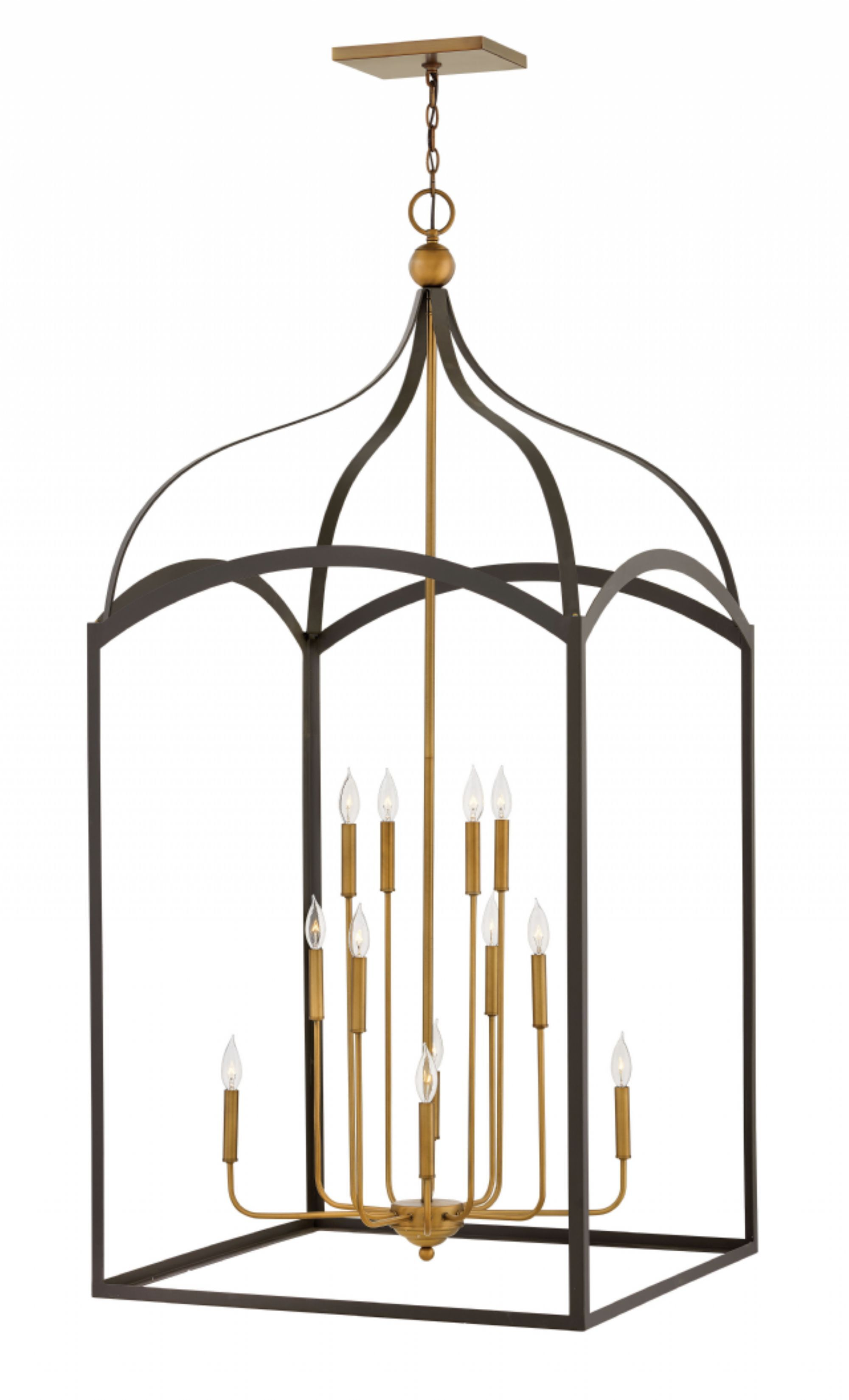 Clarendon Three Tier 12-Light Foyer Pendant Finish: Bronze