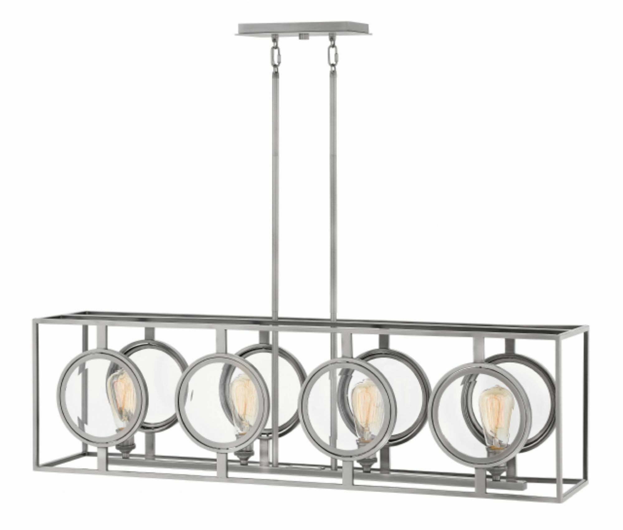 Fulham Linear 4-Light Kitchen Island Pendant Finish: Polished Antique Nickel
