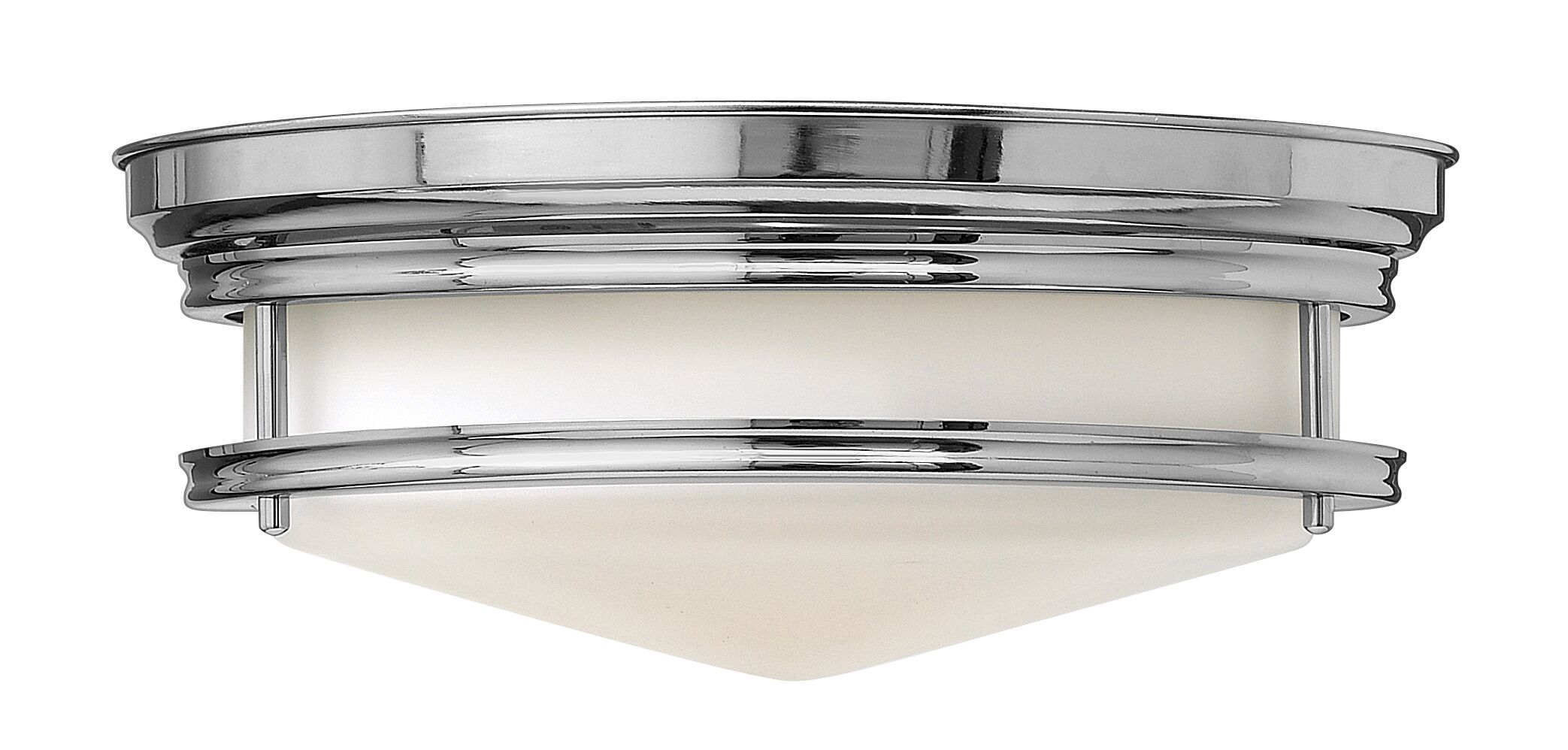 Hadley 3-Light LED Flush Mount Finish: Chrome, Bulb Type: FSI