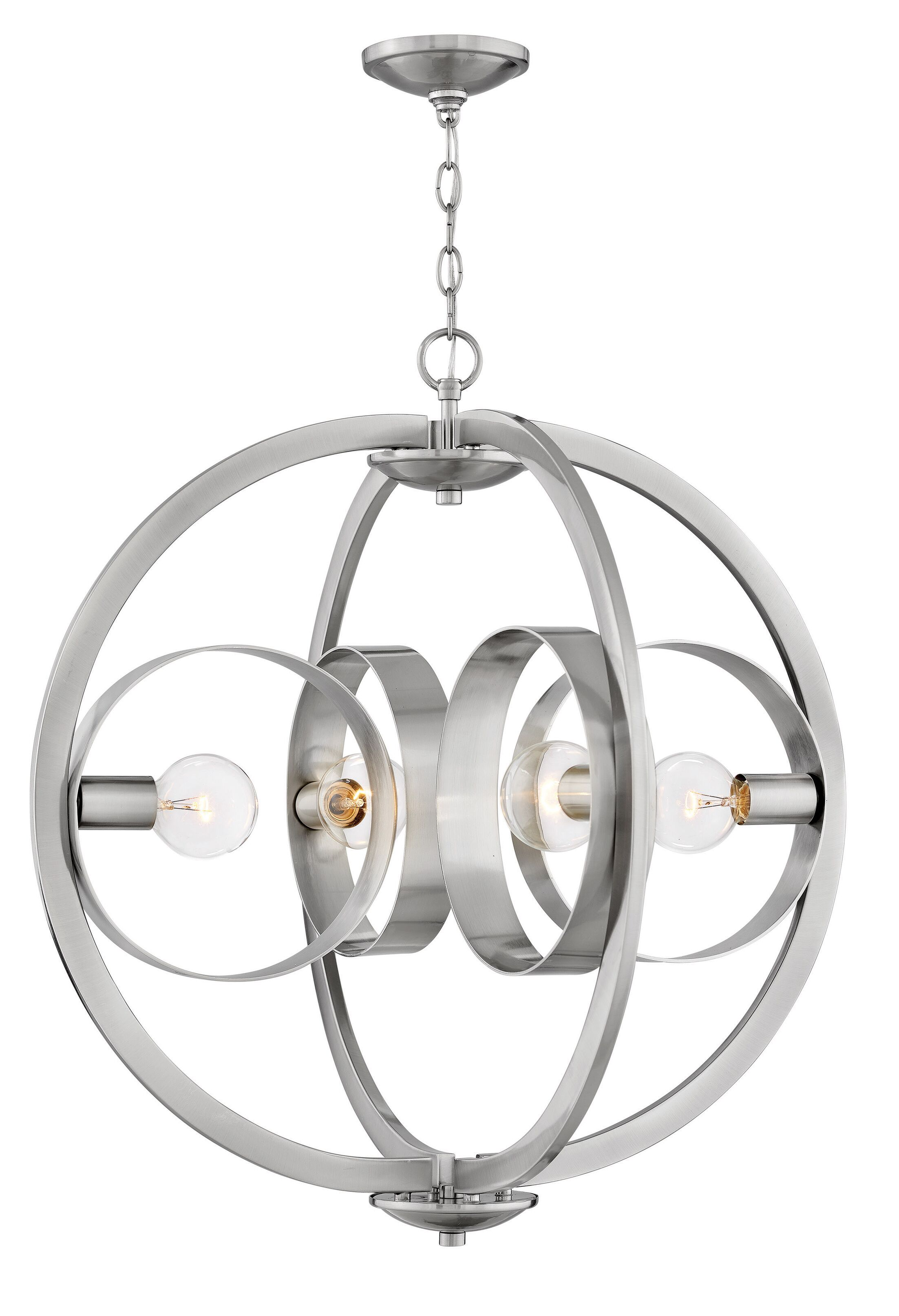 Orson 4-Light Chandelier Finish: Brushed Nickle