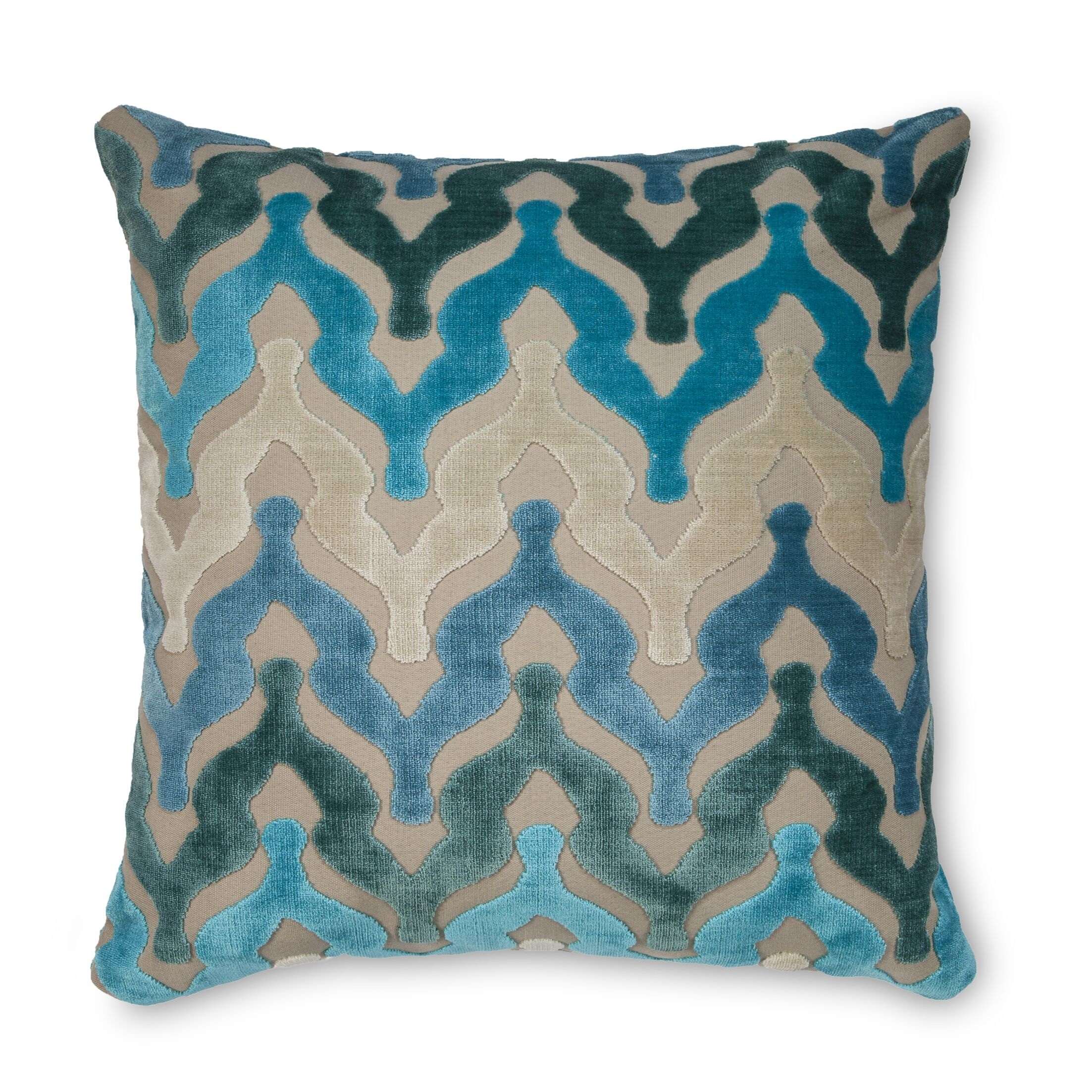 Bella Velvet Throw Pillow Color: Turquoise