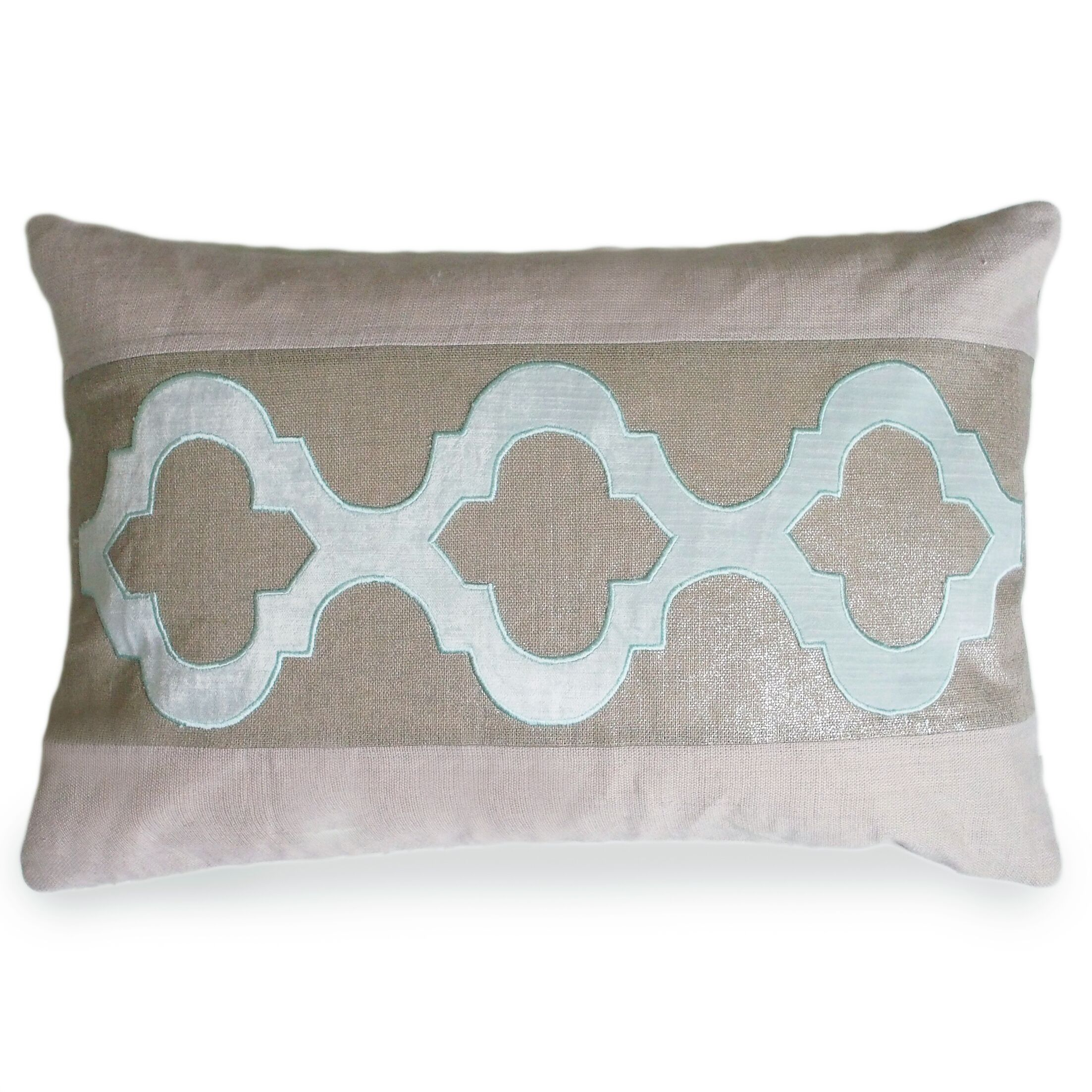 Ceecee Linen Lumbar Pillow Color: Pale Blue
