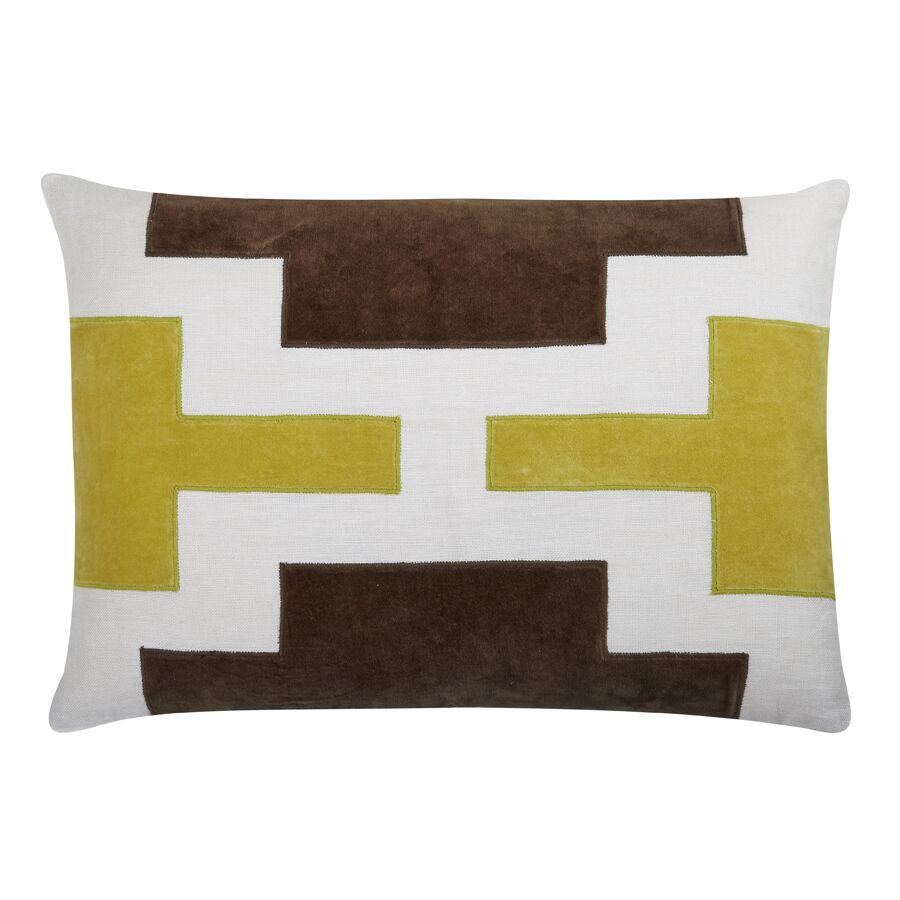 Lois Lumbar Pillow Color: Citrus