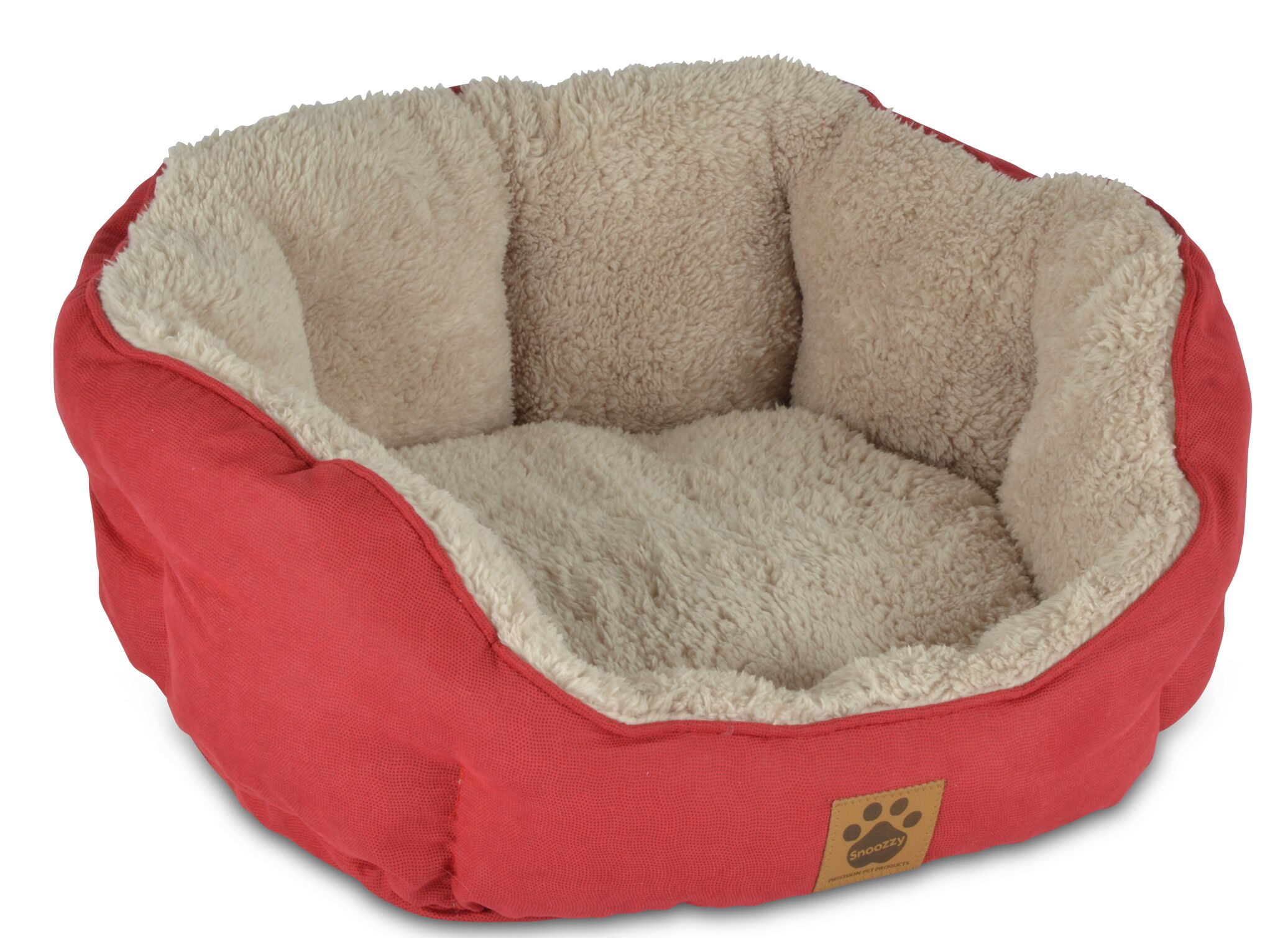 Clamshell Dog Bed Color: Red