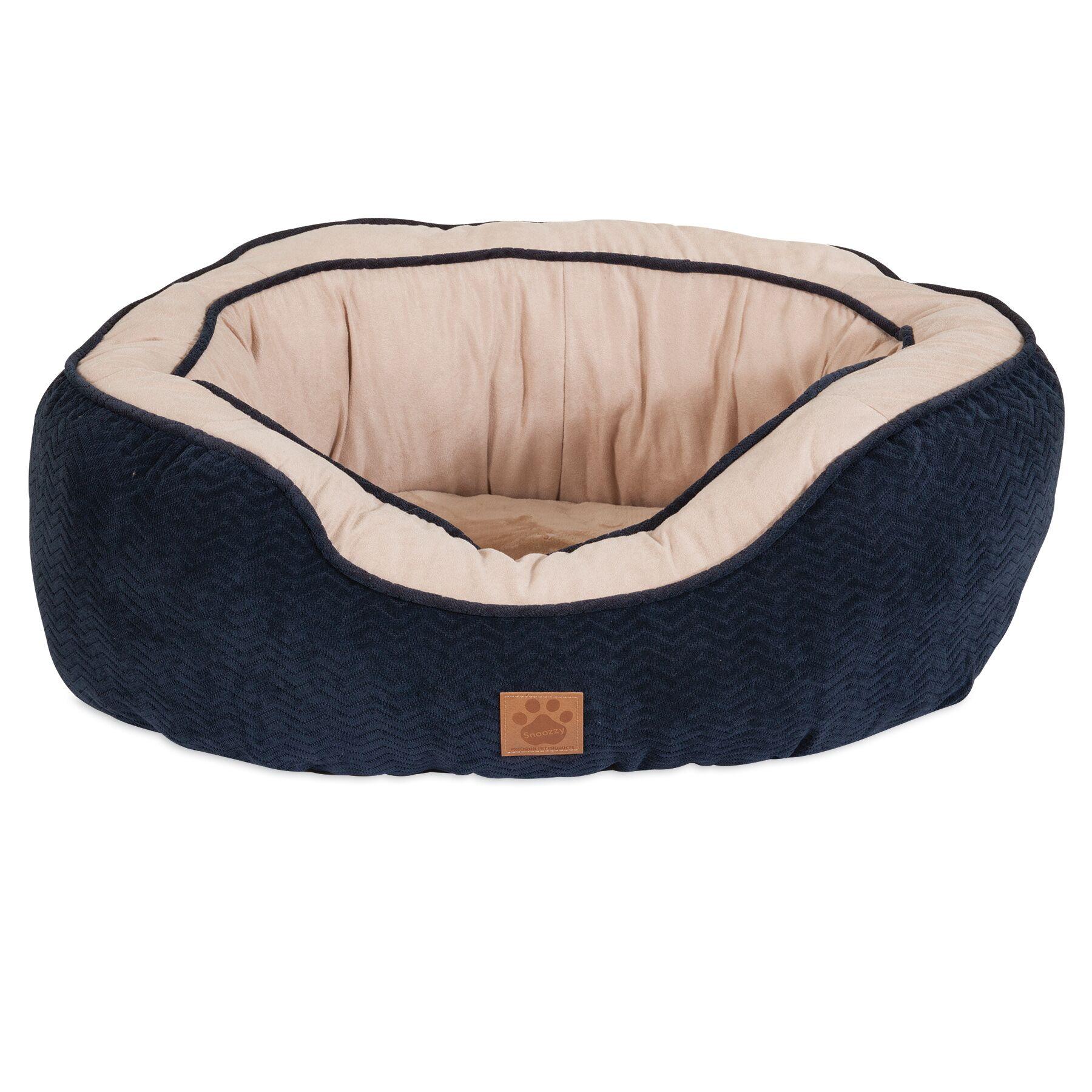 Corvus Chevron Gusset Daydreamer Bolster Dog Bed Size: 22