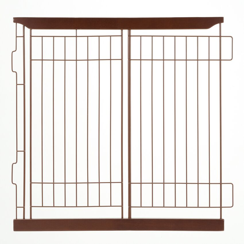 Expandable Pet Crate Divider Color: Cherry Brown, Size: Small