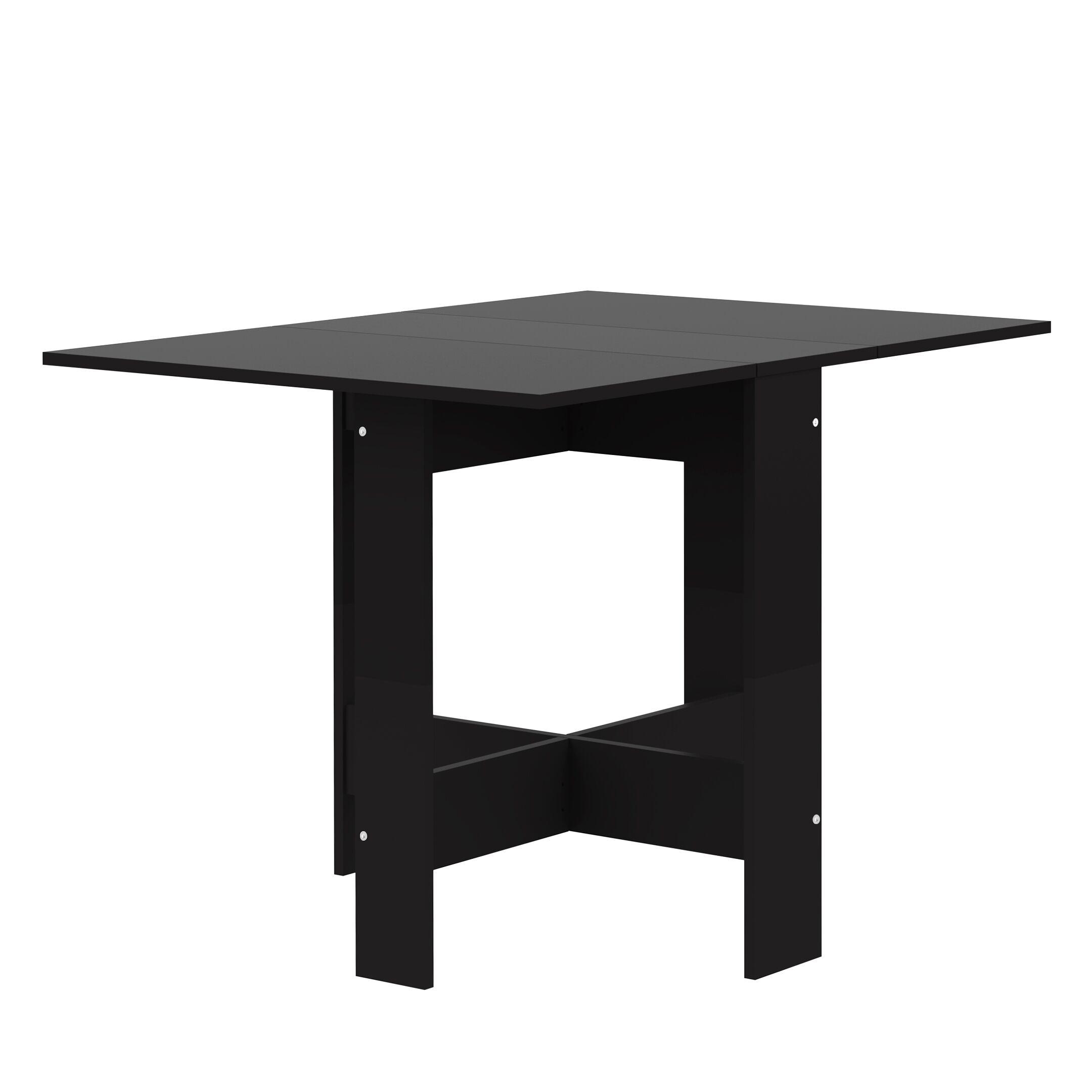 Fairgrove Foldable Dining Table Color: Black