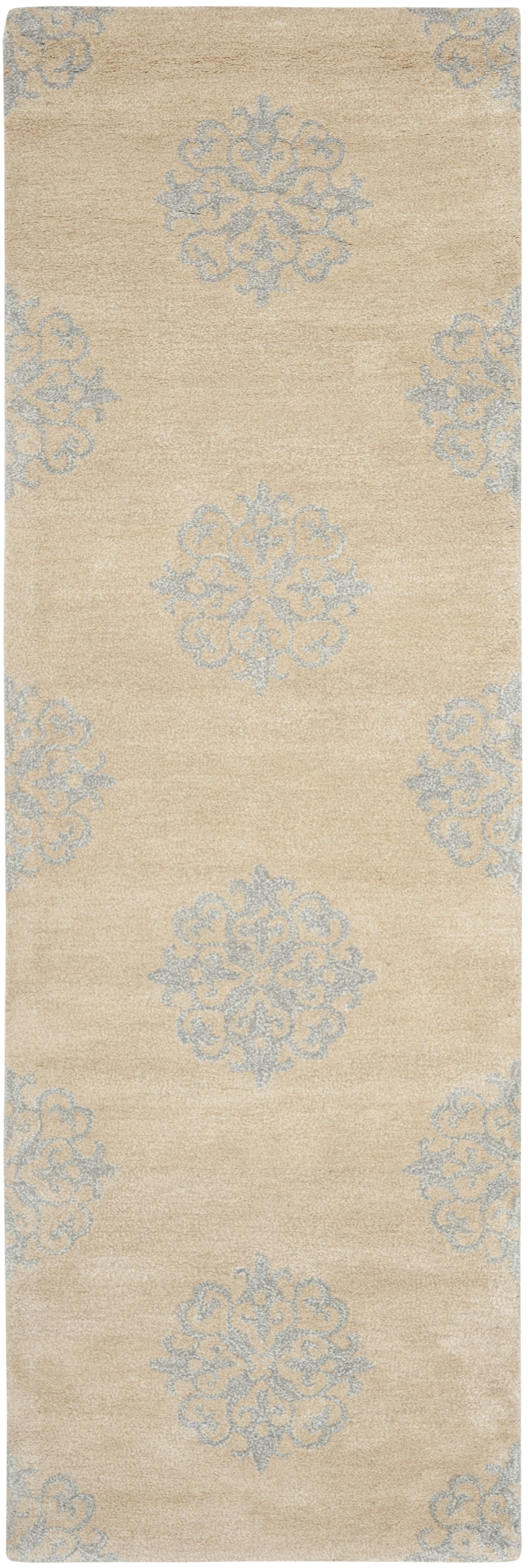 Marcello Hand-Tufted Beige Area Rug Rug Size: Runner 2'6