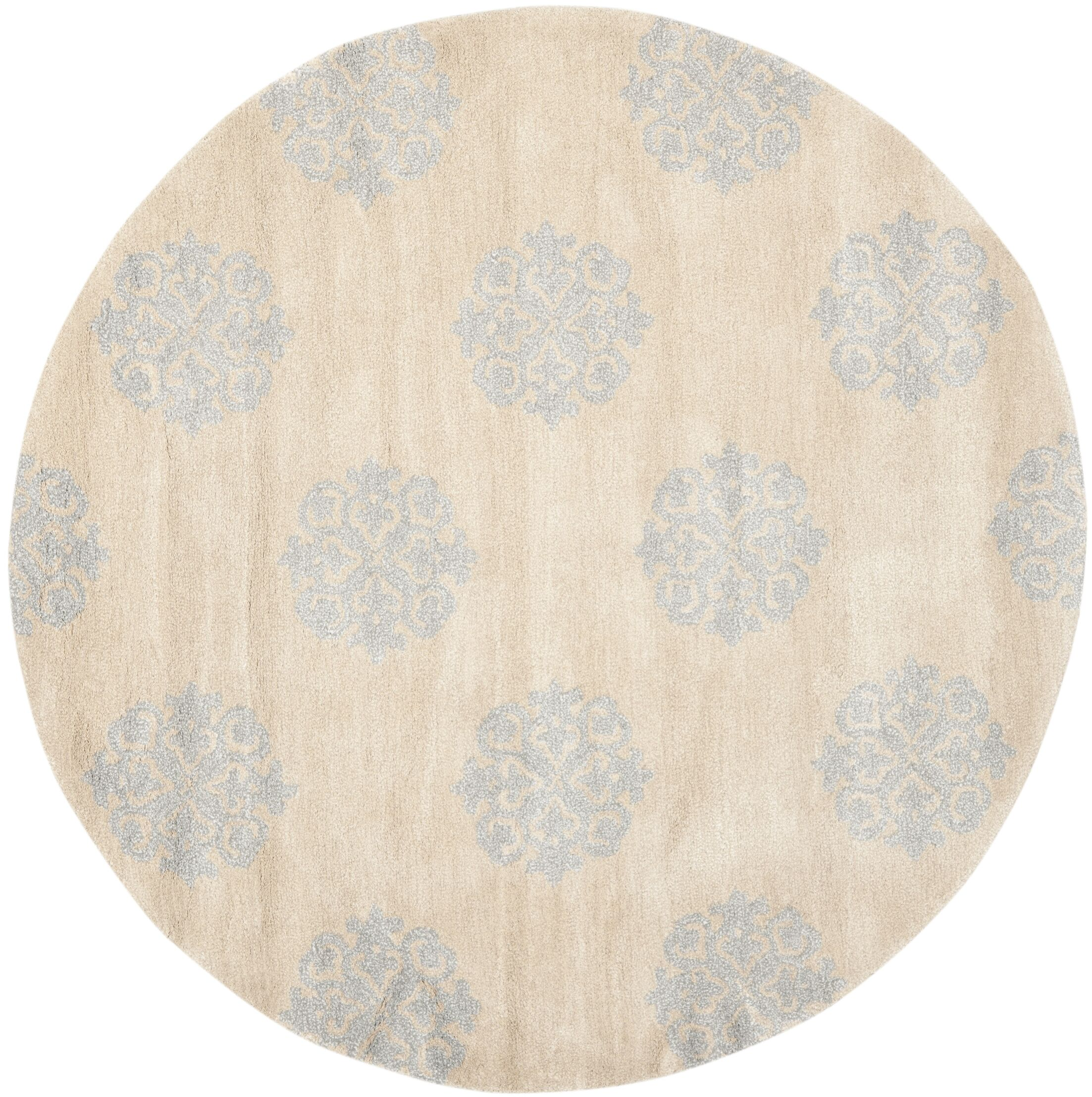 Marcello Hand-Tufted Beige Area Rug Rug Size: Rectangle 5' x 8'