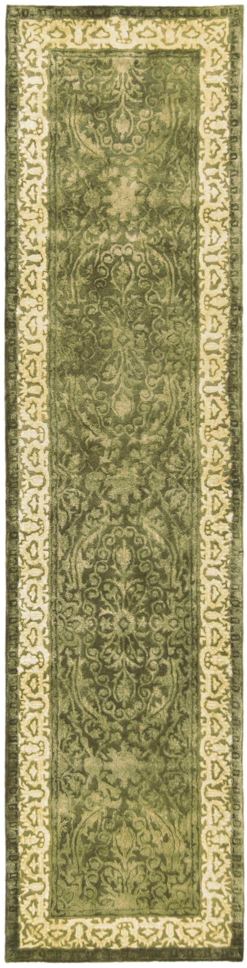 Silk Road Spruce/Ivory Area Rug Rug Size: Runner 2'6