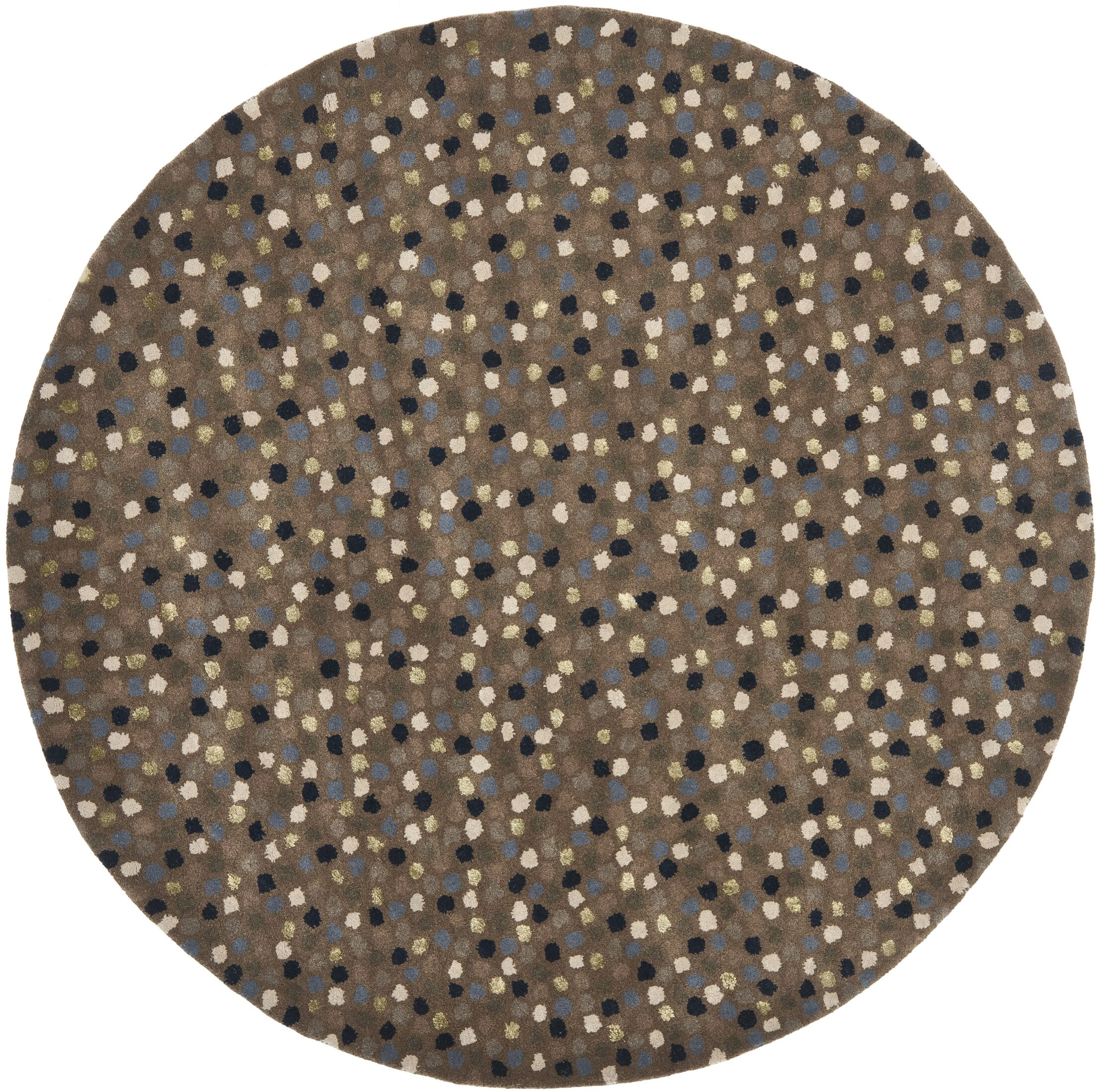 Lockwood Dark Grey Area Rug Rug Size: Round 6'