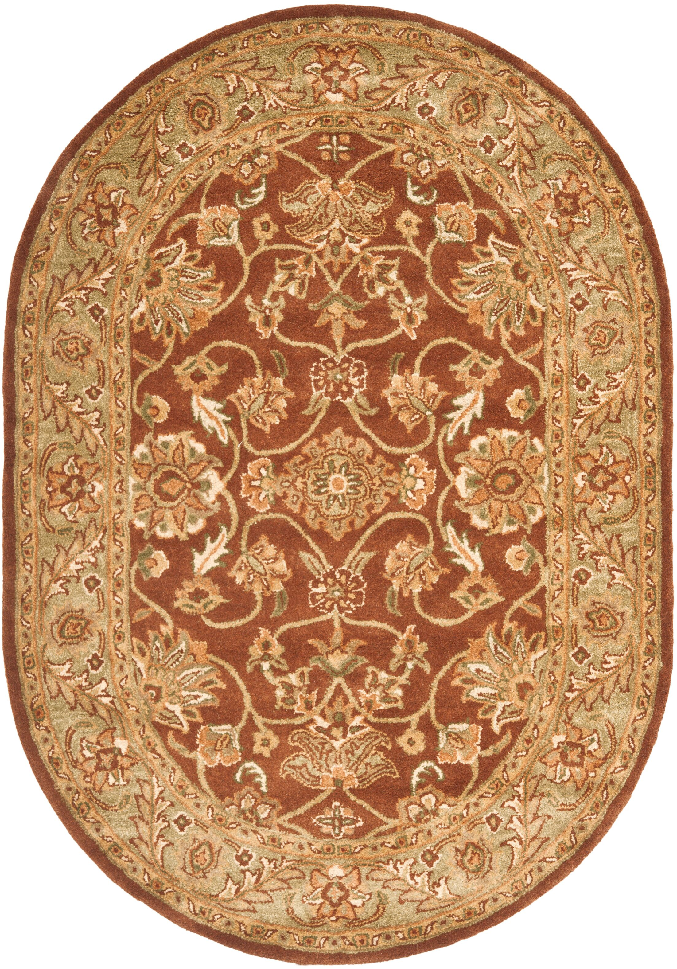 Golden Jaipur Gold/Rust Area Rug Rug Size: Oval 4'6