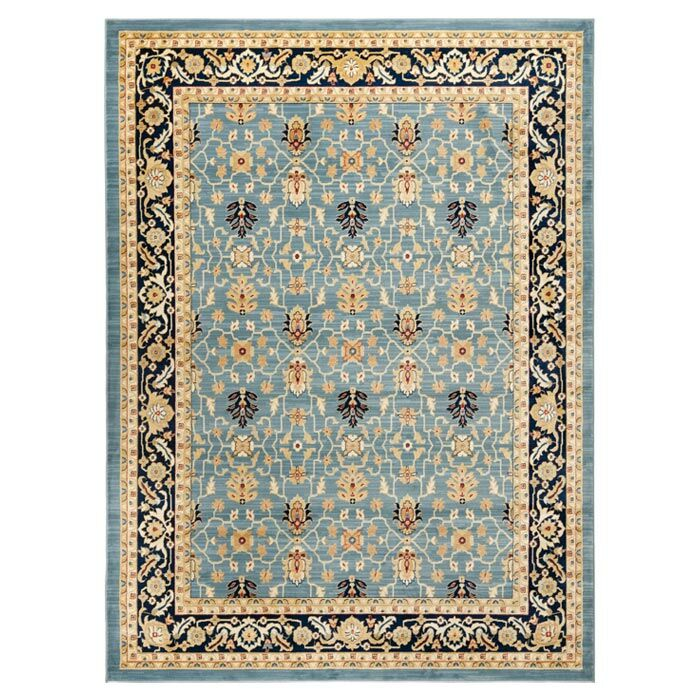 Austin Blue/Beige Area Rug Rug Size: Rectangle 9'6