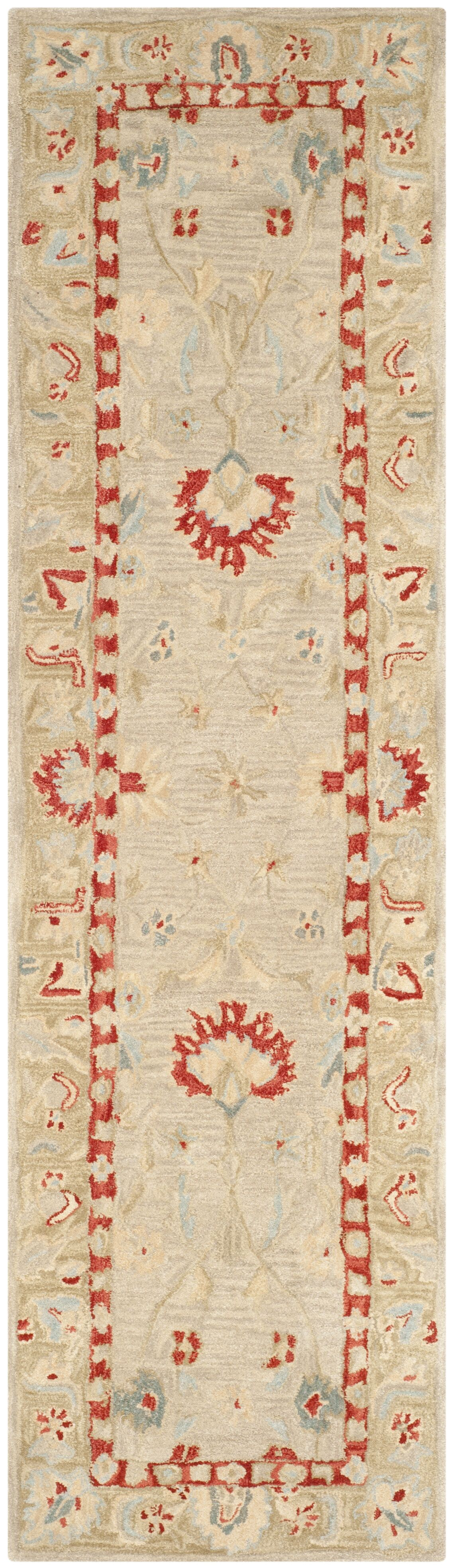 Anatolia Ivory/Green Area Rug Rug Size: Runner 2'3