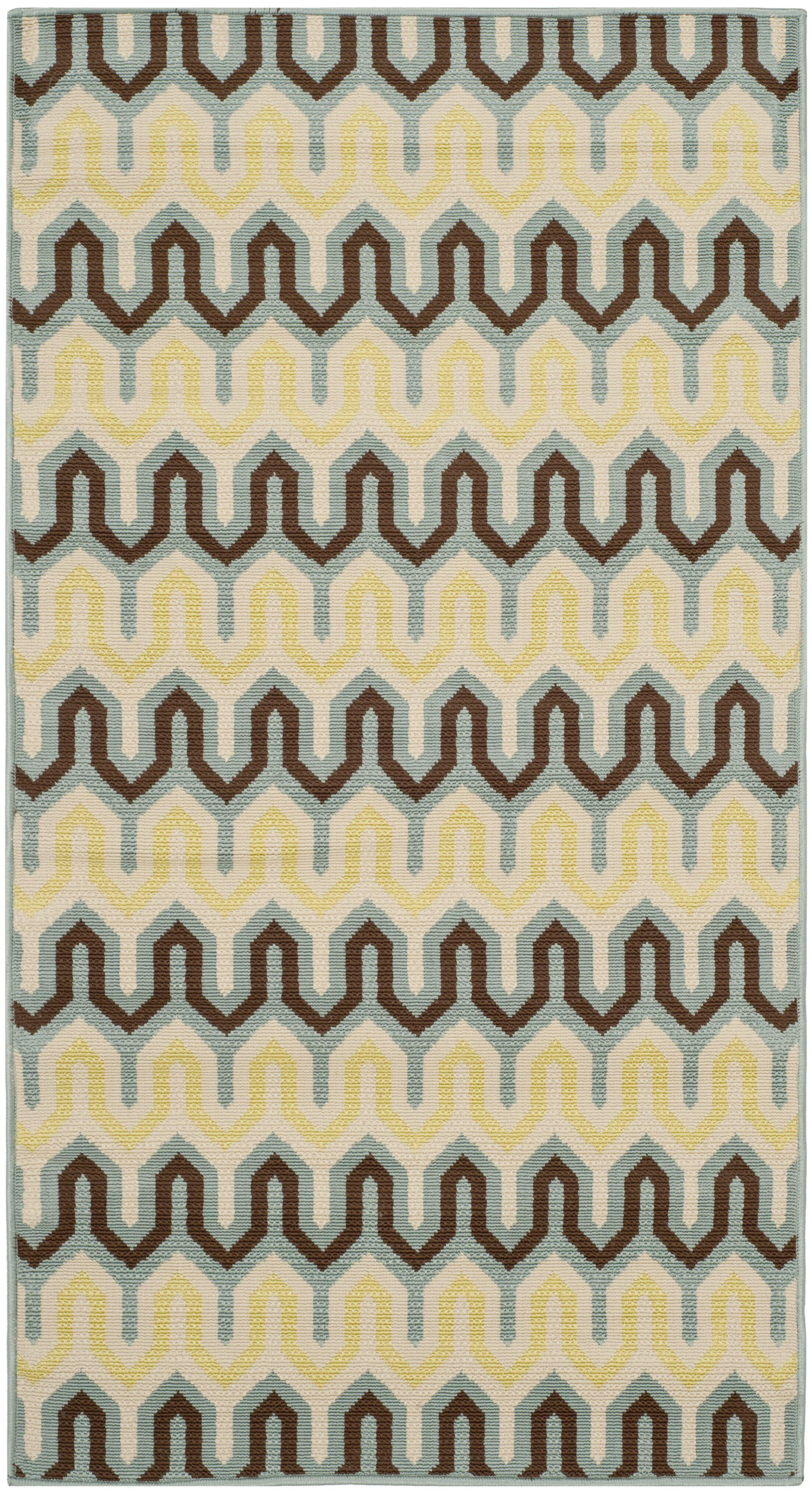 Kelston Light Ivory Outdoor Area Rug Rug Size: Rectangle 4' x 6'