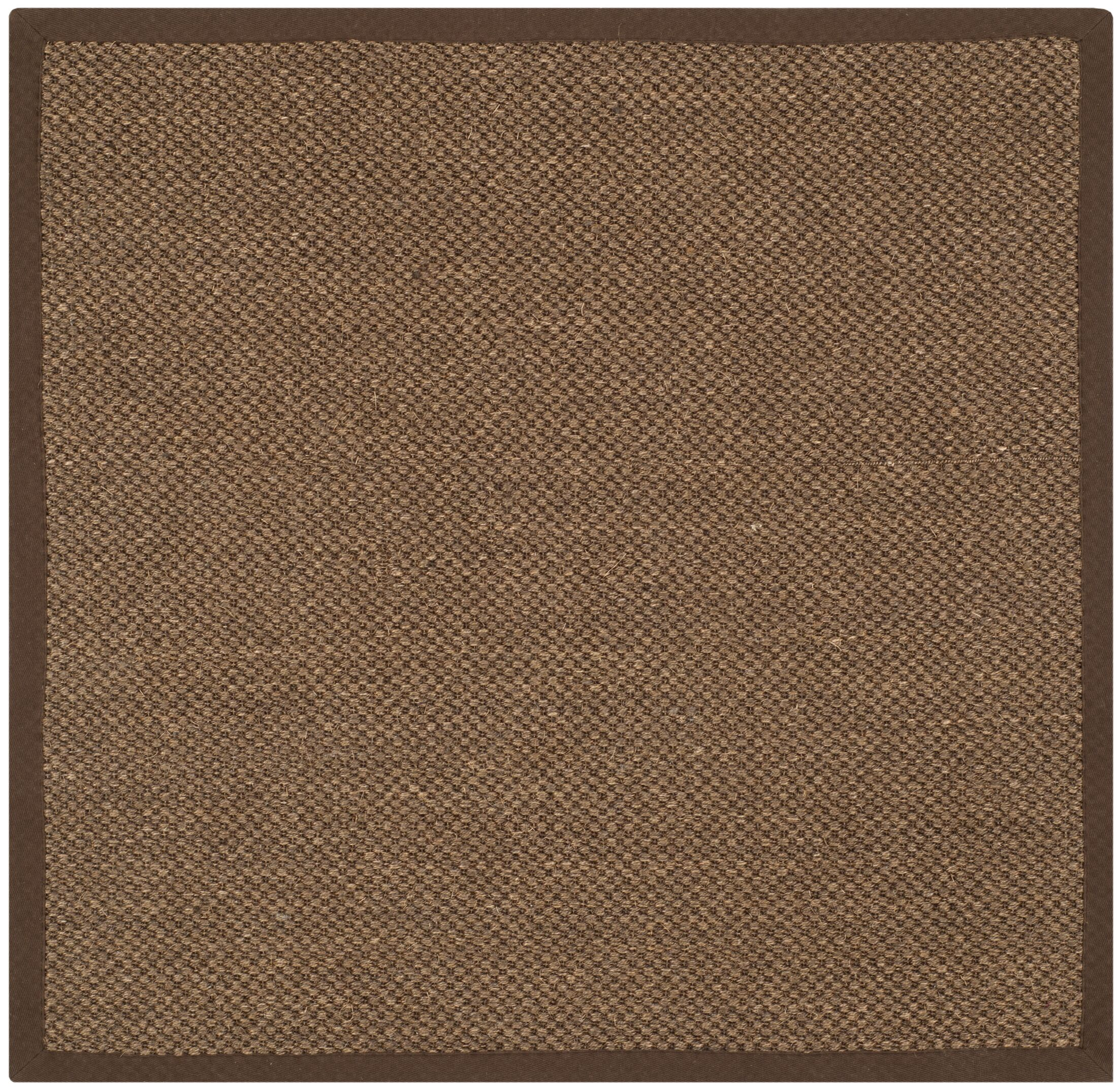 Greene Hand-Woven Brown Area Rug Rug Size: Square 4'