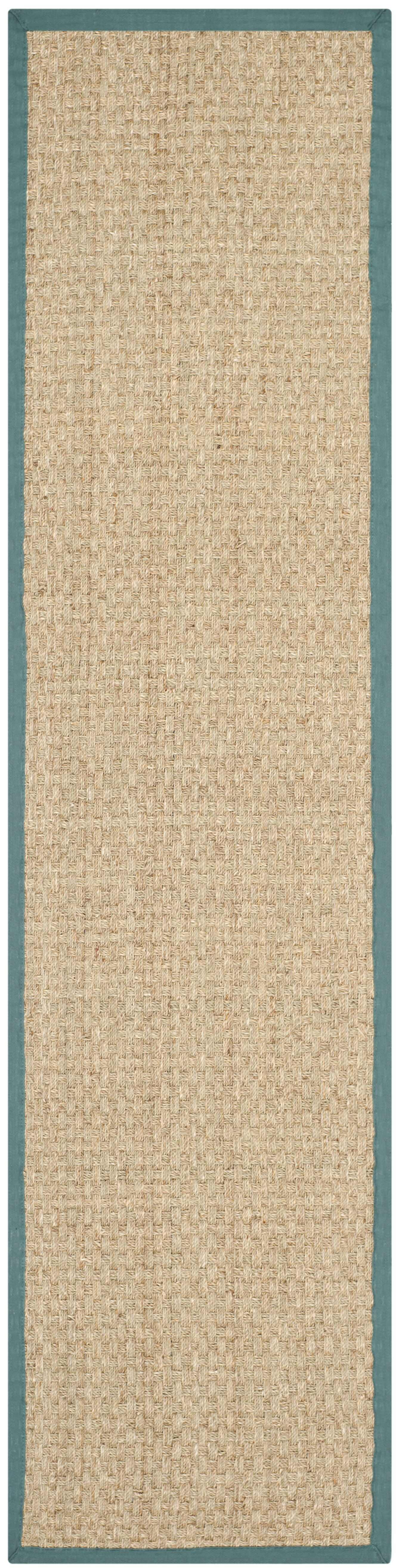Richmond Natural/Light Blue Area Rug Rug Size: Runner 2'6