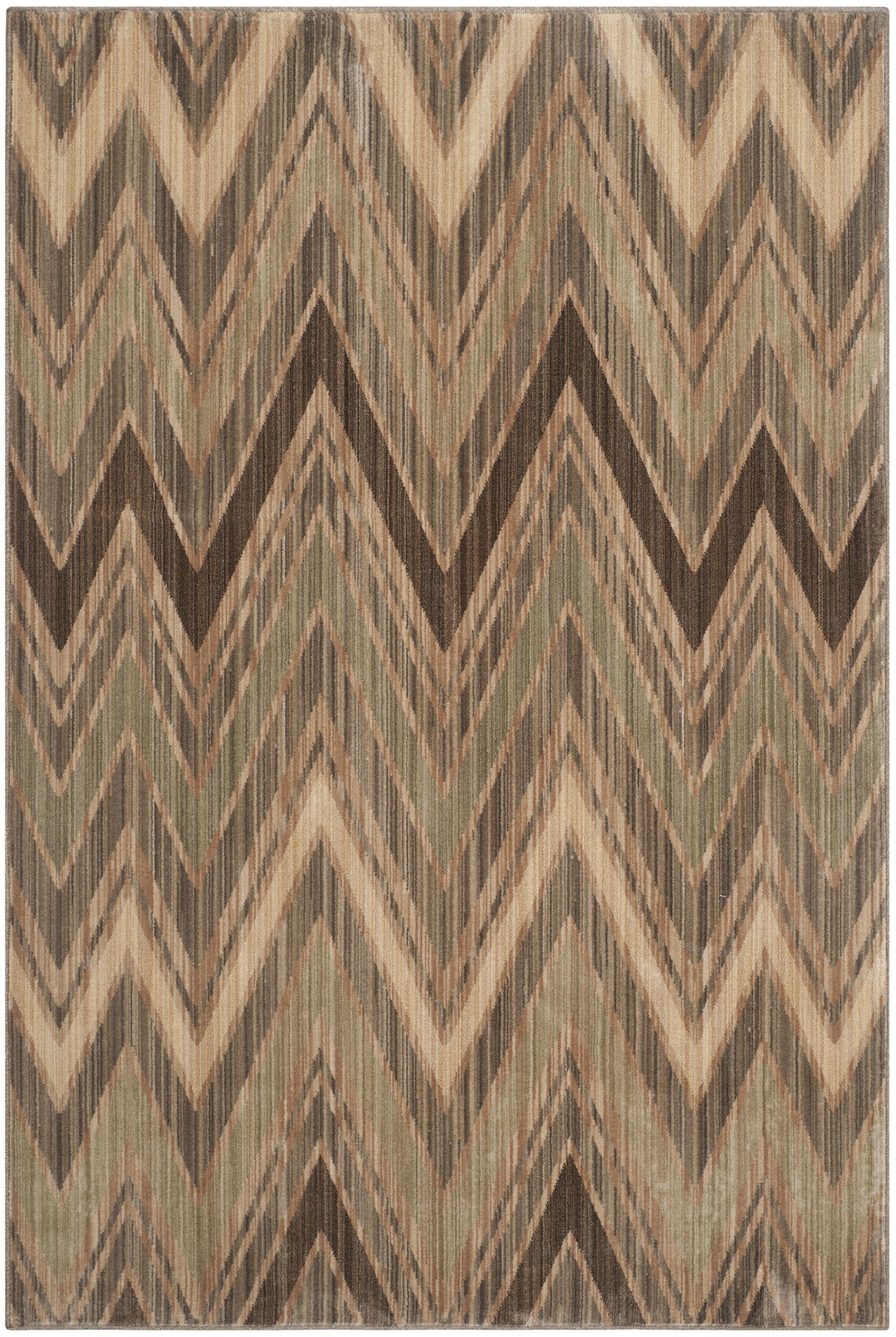 Infinity Chevron Taupe/Beige Area Rug Rug Size: Rectangle 8' x 10'