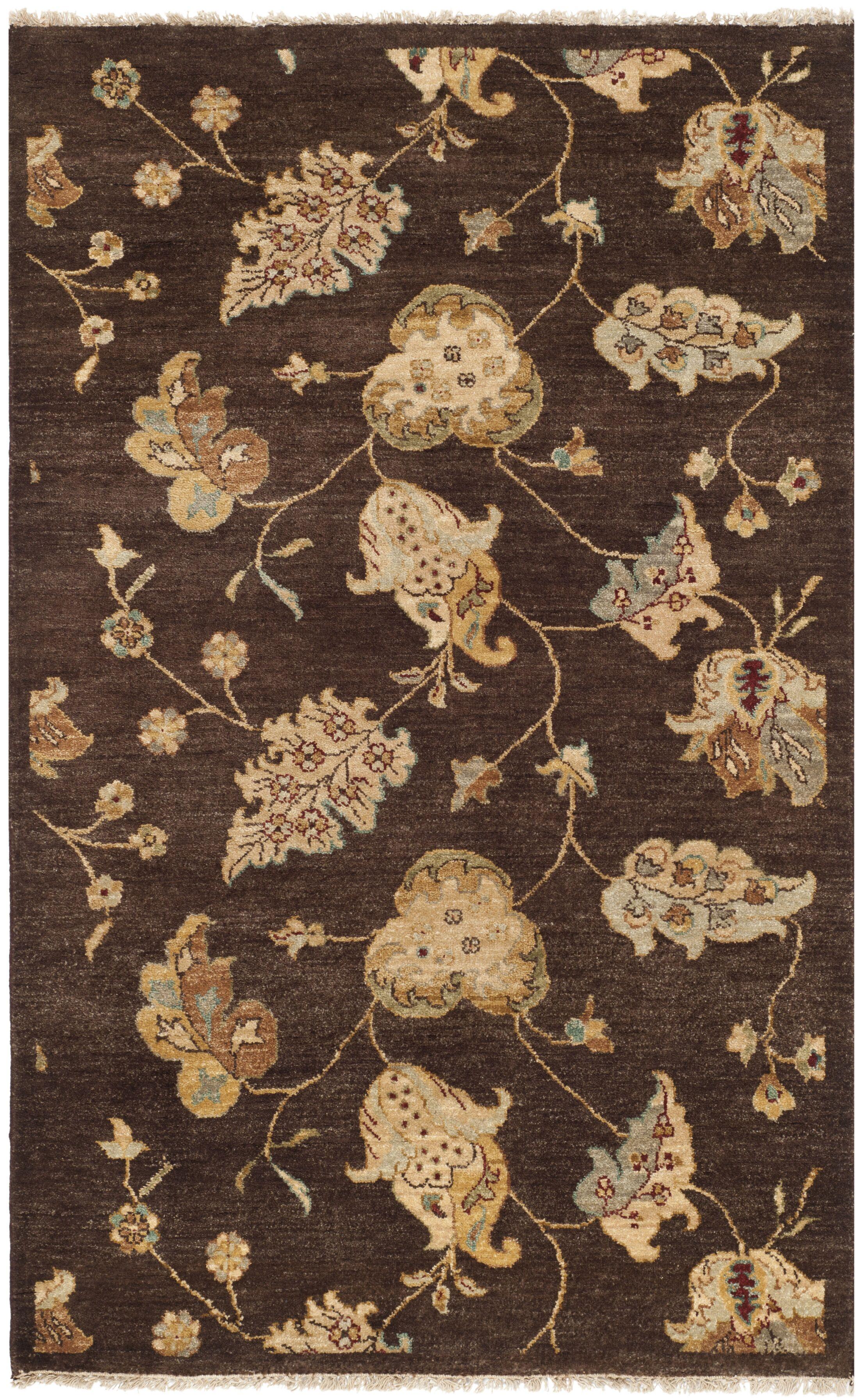 Agra Brown Area Rug Rug Size: Rectangle 3' x 5'