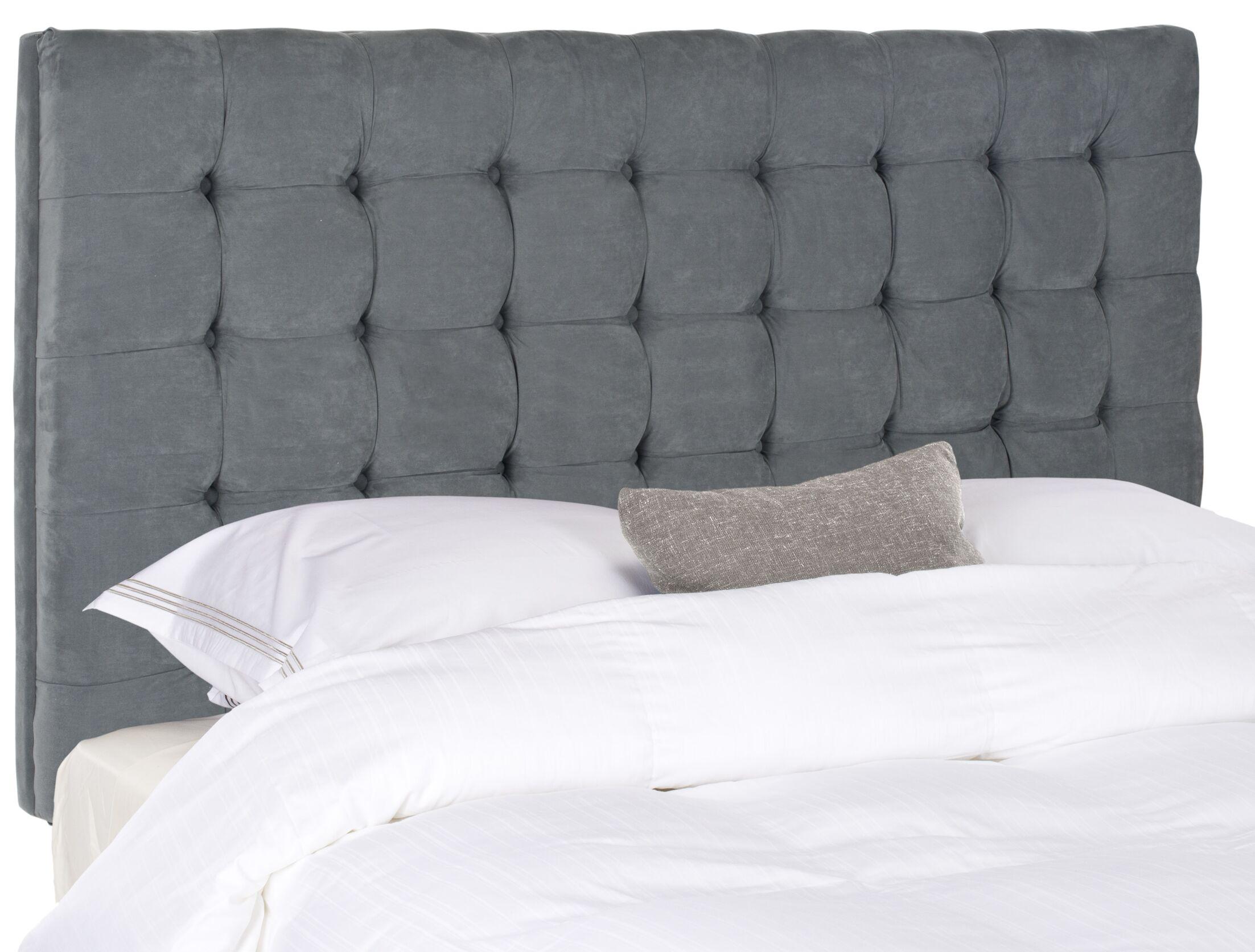 Fitch Upholstered Panel Headboard Upholstery: Velvet Gray, Size: Full
