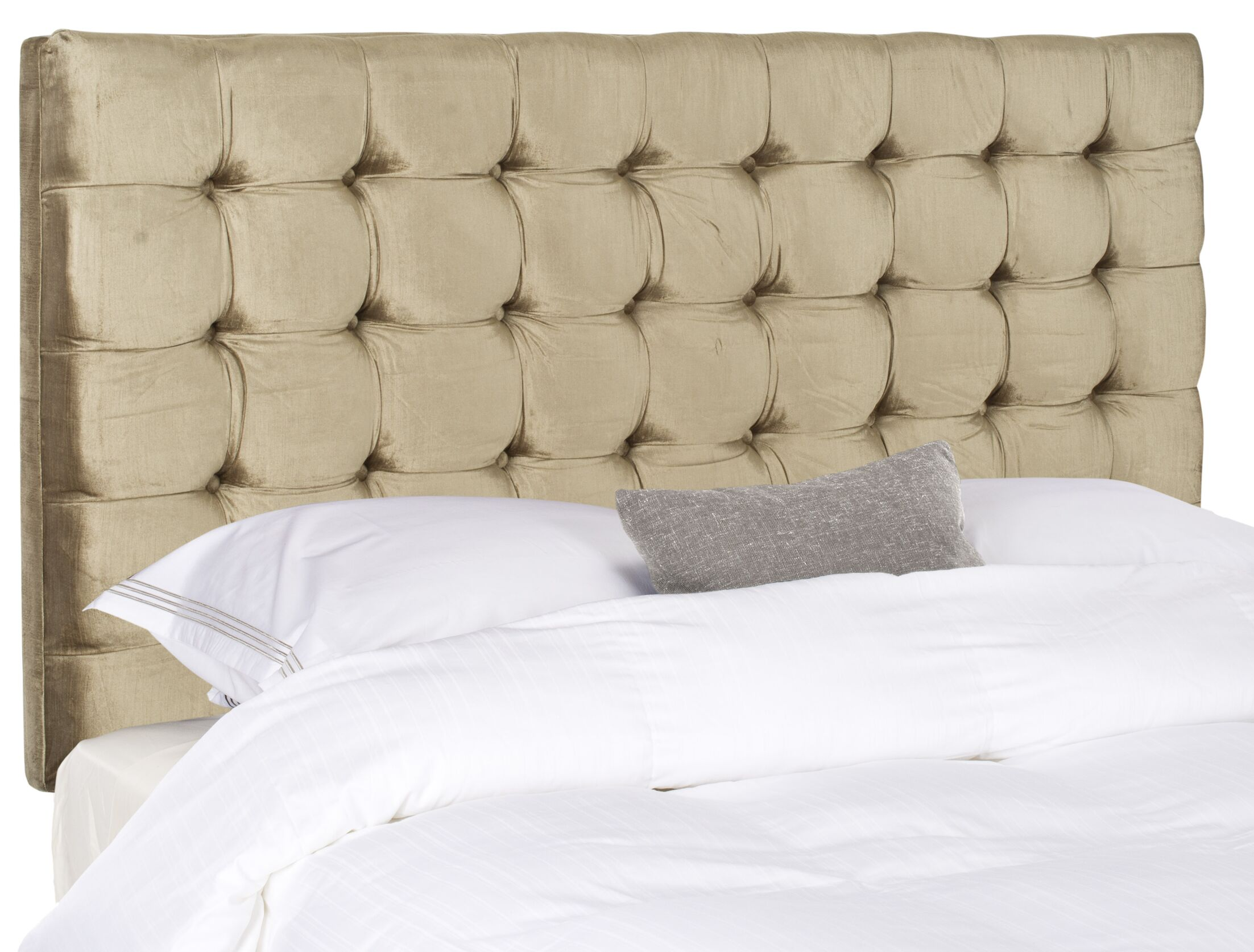 Fitch Upholstered Panel Headboard Size: Queen, Upholstery: Polyester Antique Olive