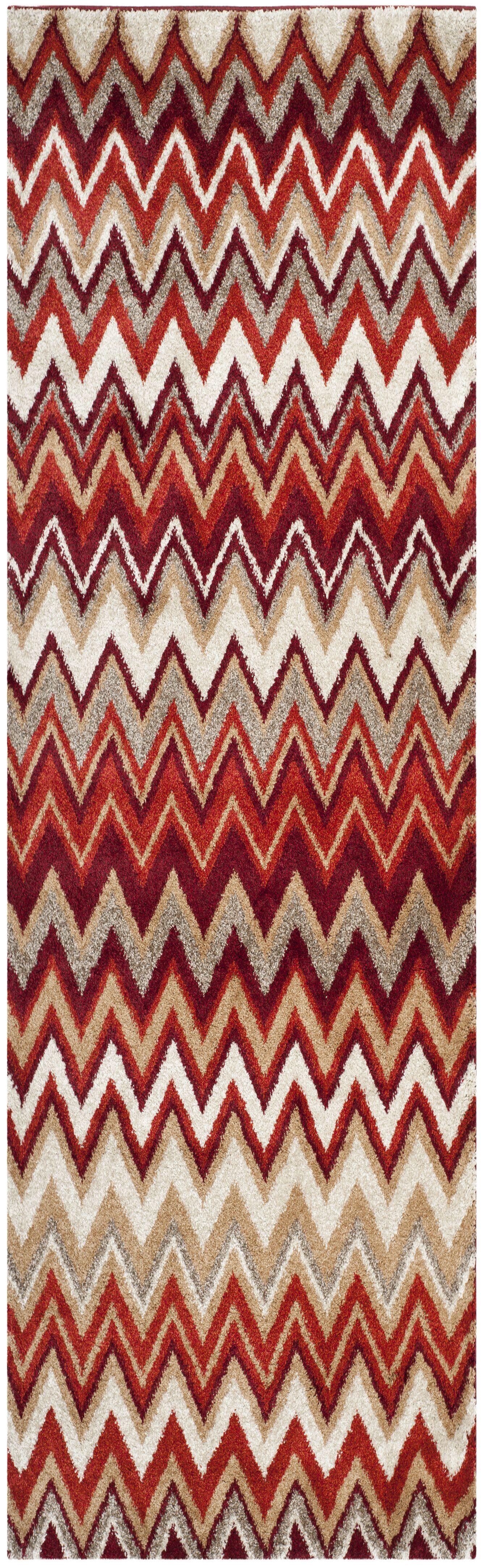 Tahoe Beige / Terracotta Geometric Rug Rug Size: Runner 2'3