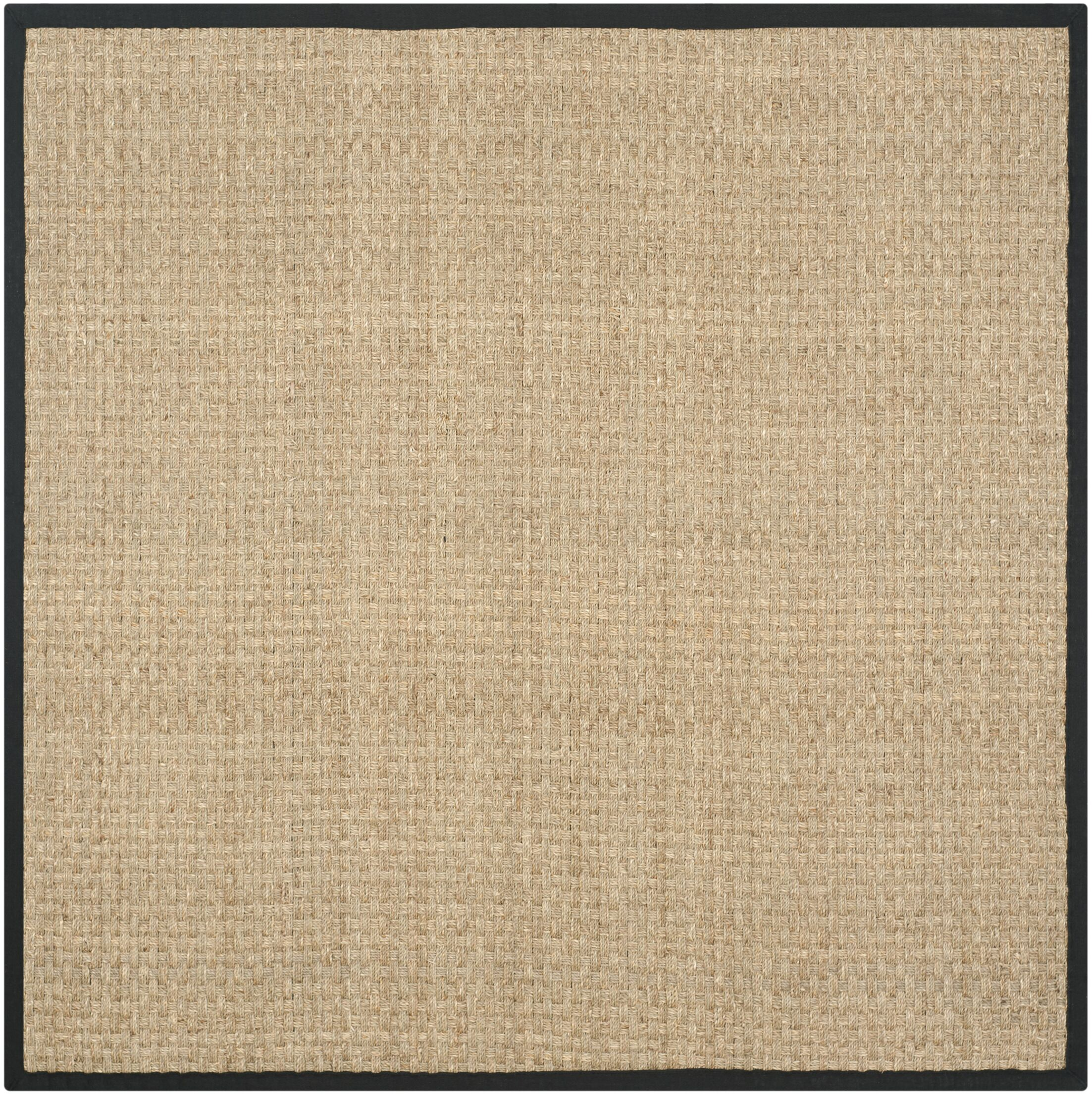 Richmond Natural / Black Area Rug Rug Size: Square 6'