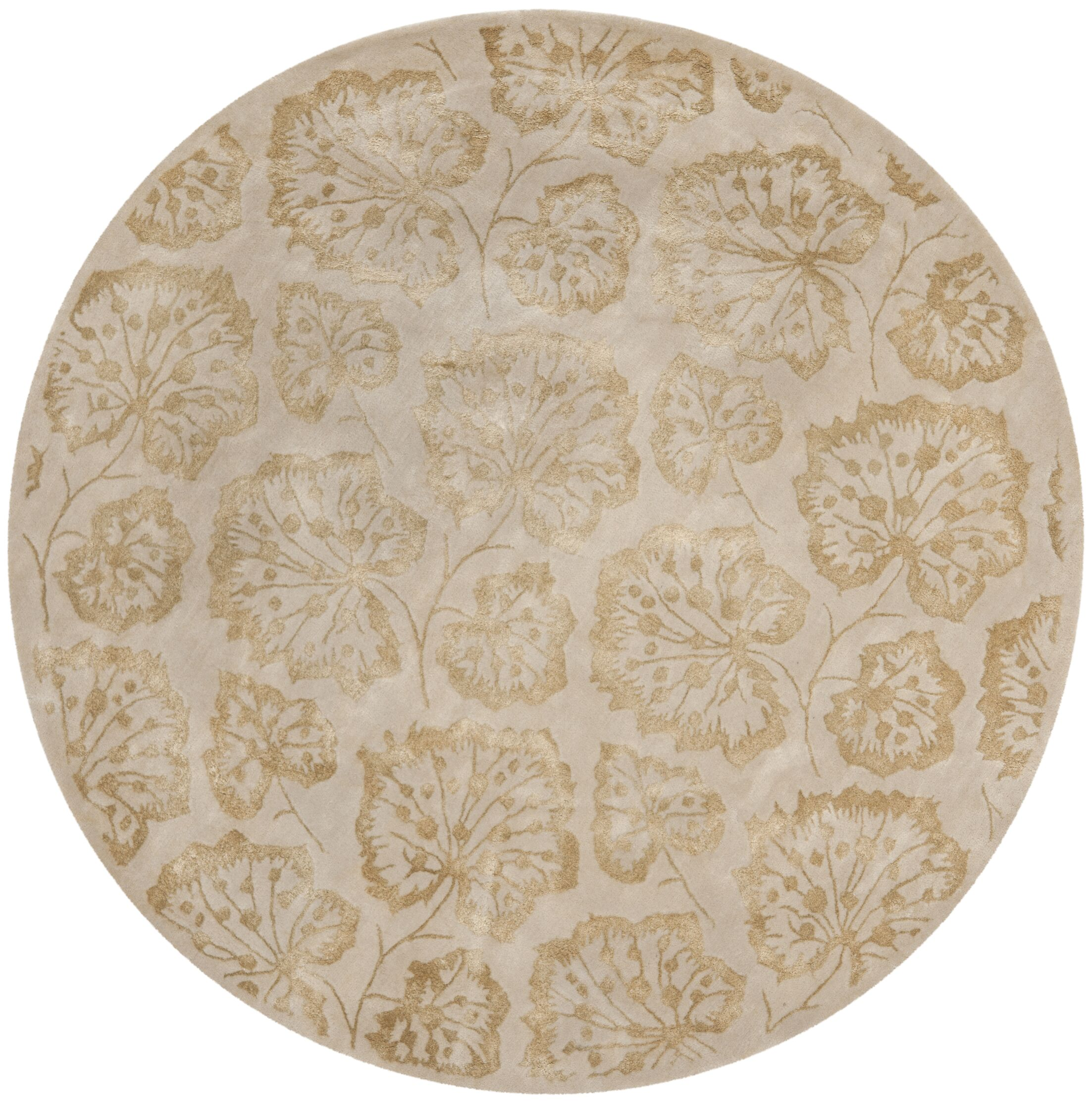 Geranium Leaf Hazelnut/Gold Area Rug Rug Size: Rectangle 2'6