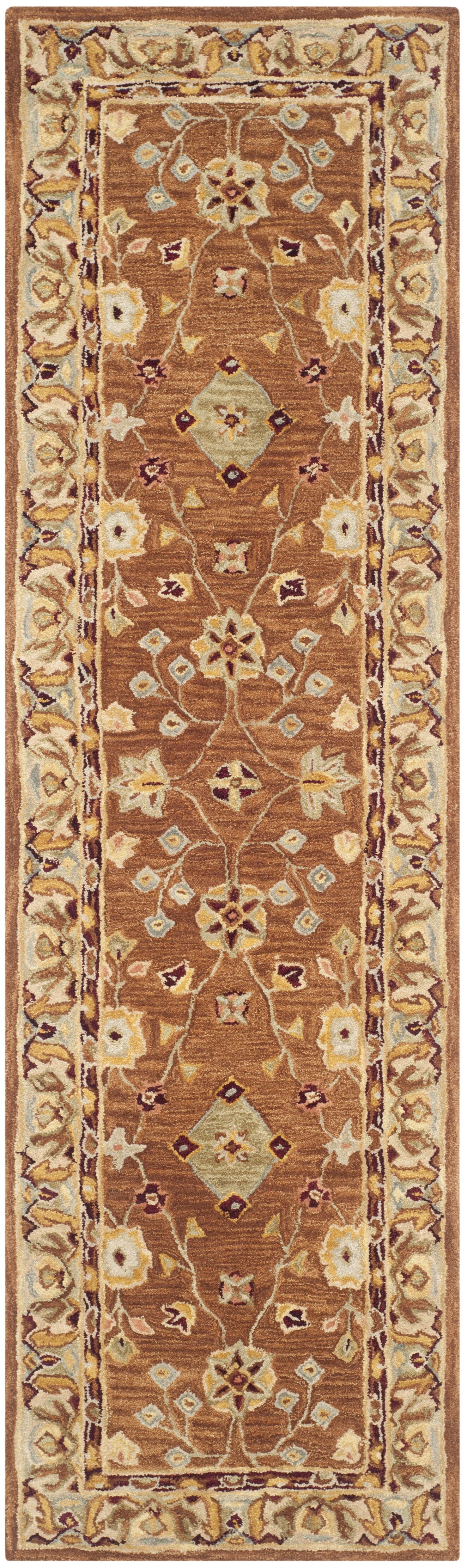Anatolia Tan/Ivory Area Rug Rug Size: Runner 2'3
