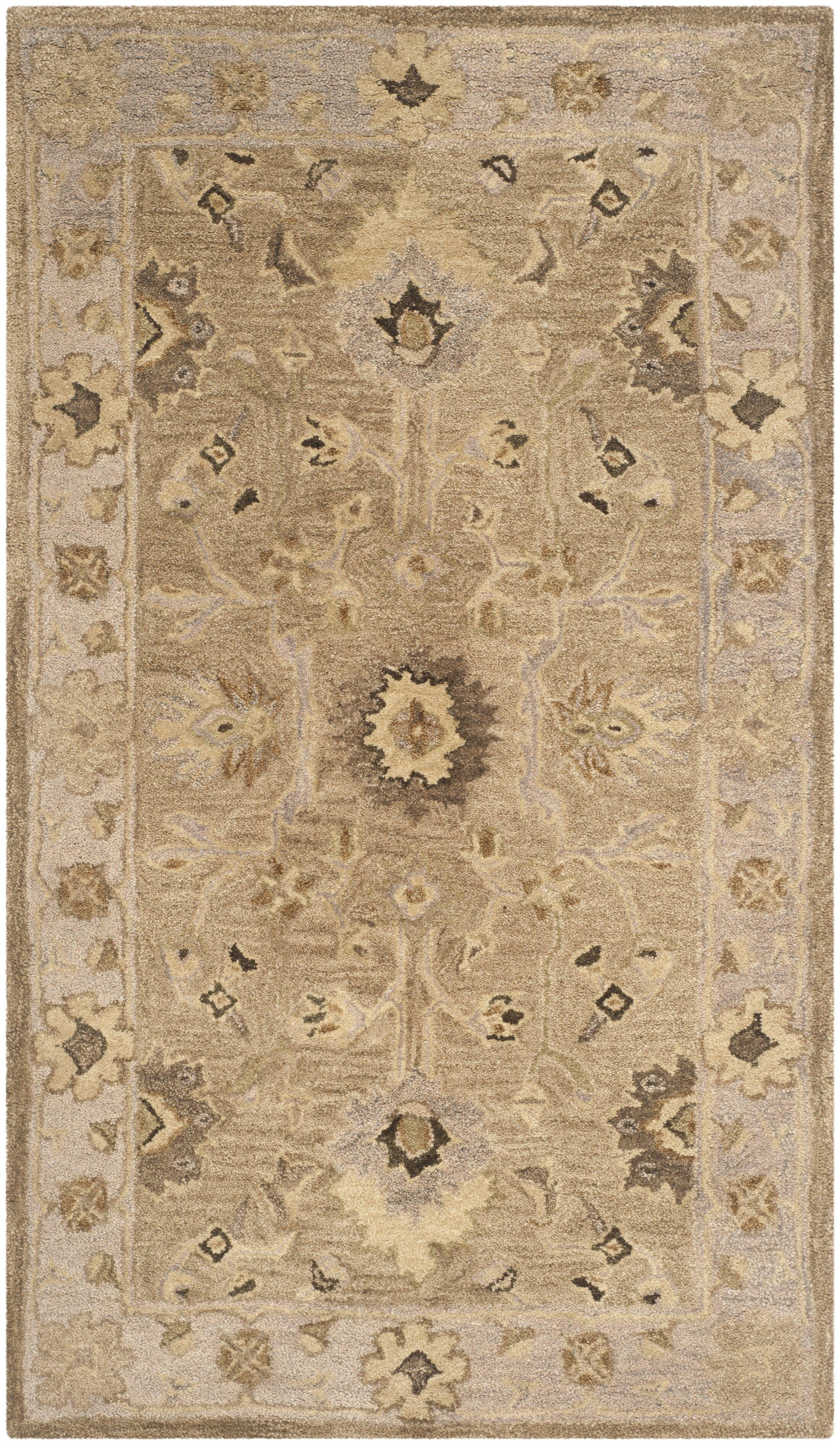 Anatolia Tan/Ivory Area Rug Rug Size: Rectangle 8' x 10'