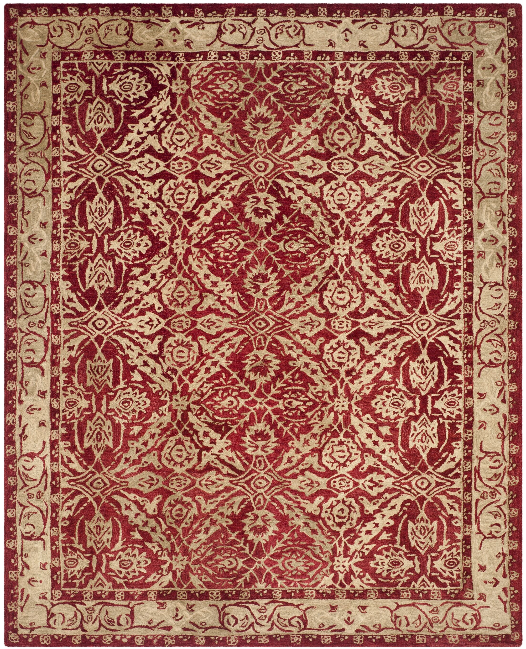 Anatolia Red/Ivory Area Rug Rug Size: Rectangle 3' x 5'