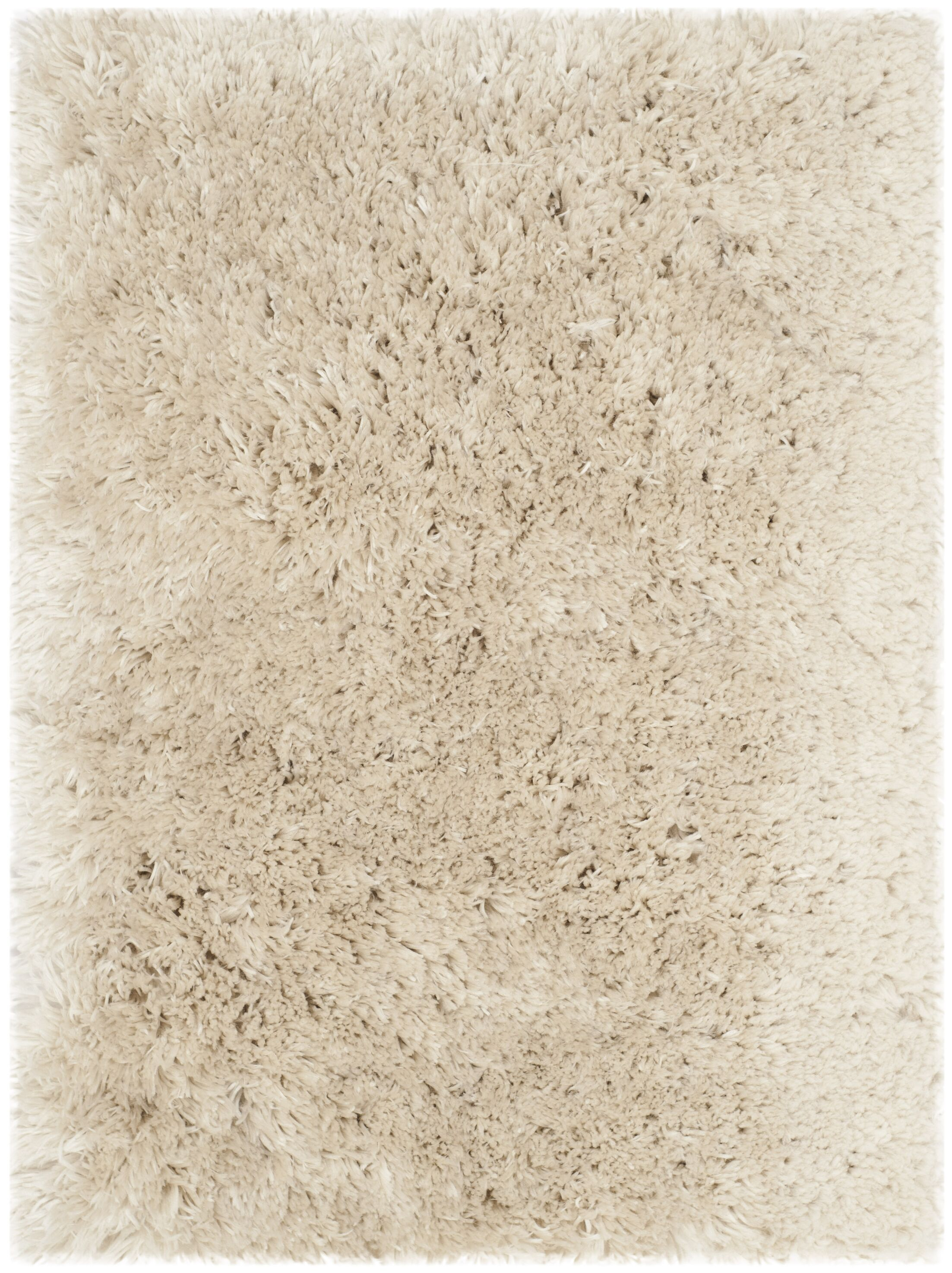 Dax Shag Hand-Tufted Beige Area Rug Rug Size: Rectangle 7'6