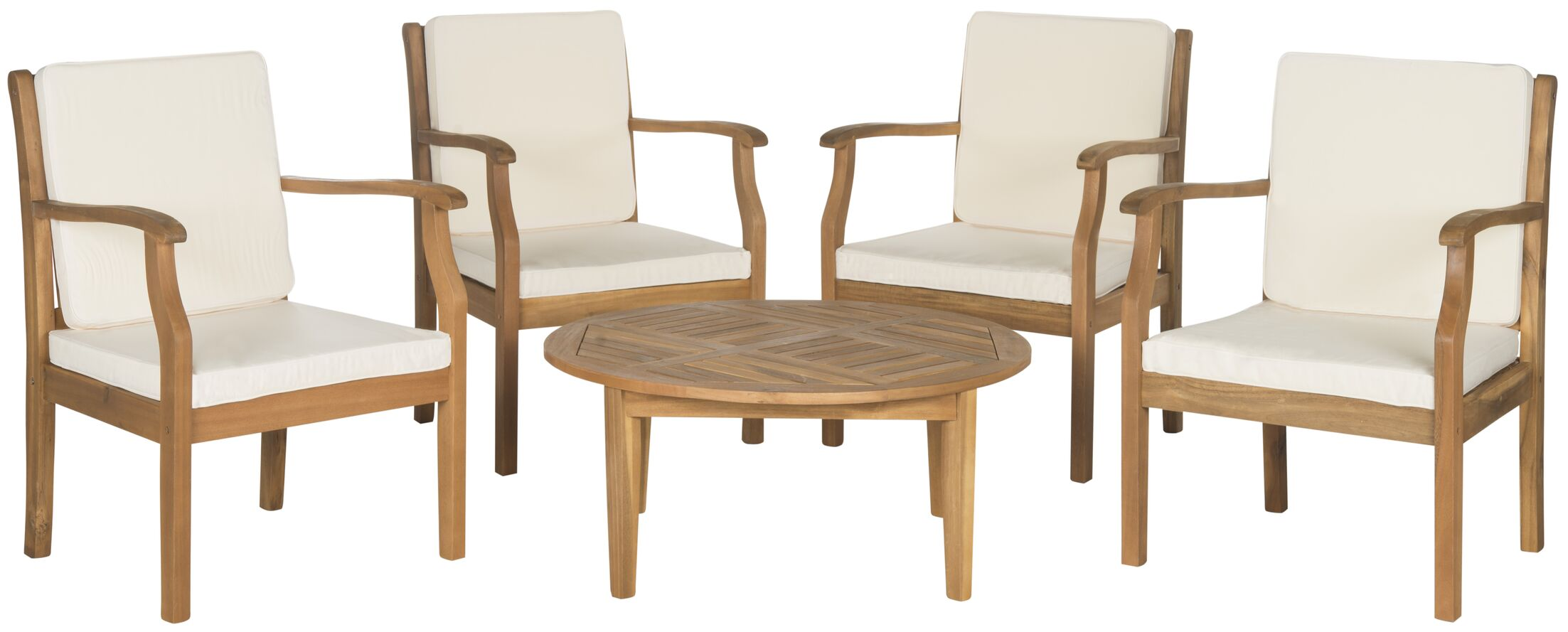 Colfax 5 Piece Conversation Set with Cushions Color: Teak Brown