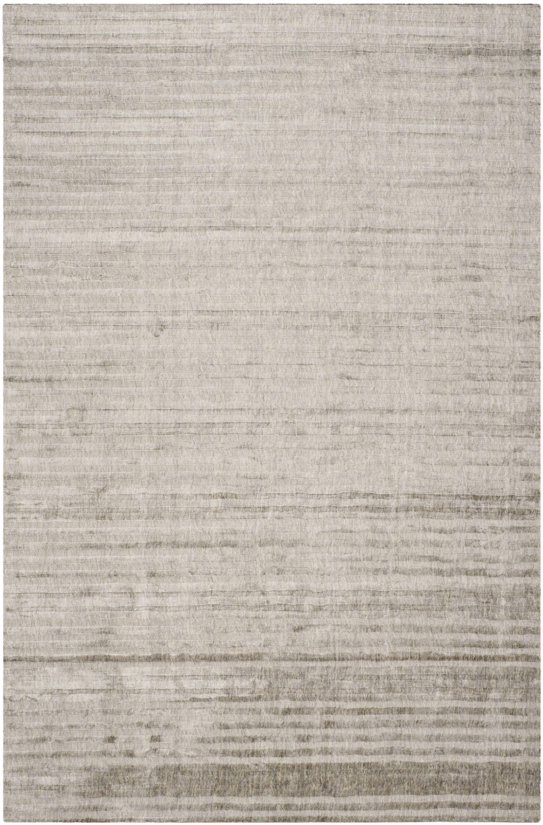 Alaina Hand- Knotted Slate Area Rug Rug Size: Rectangle 8' x 10'