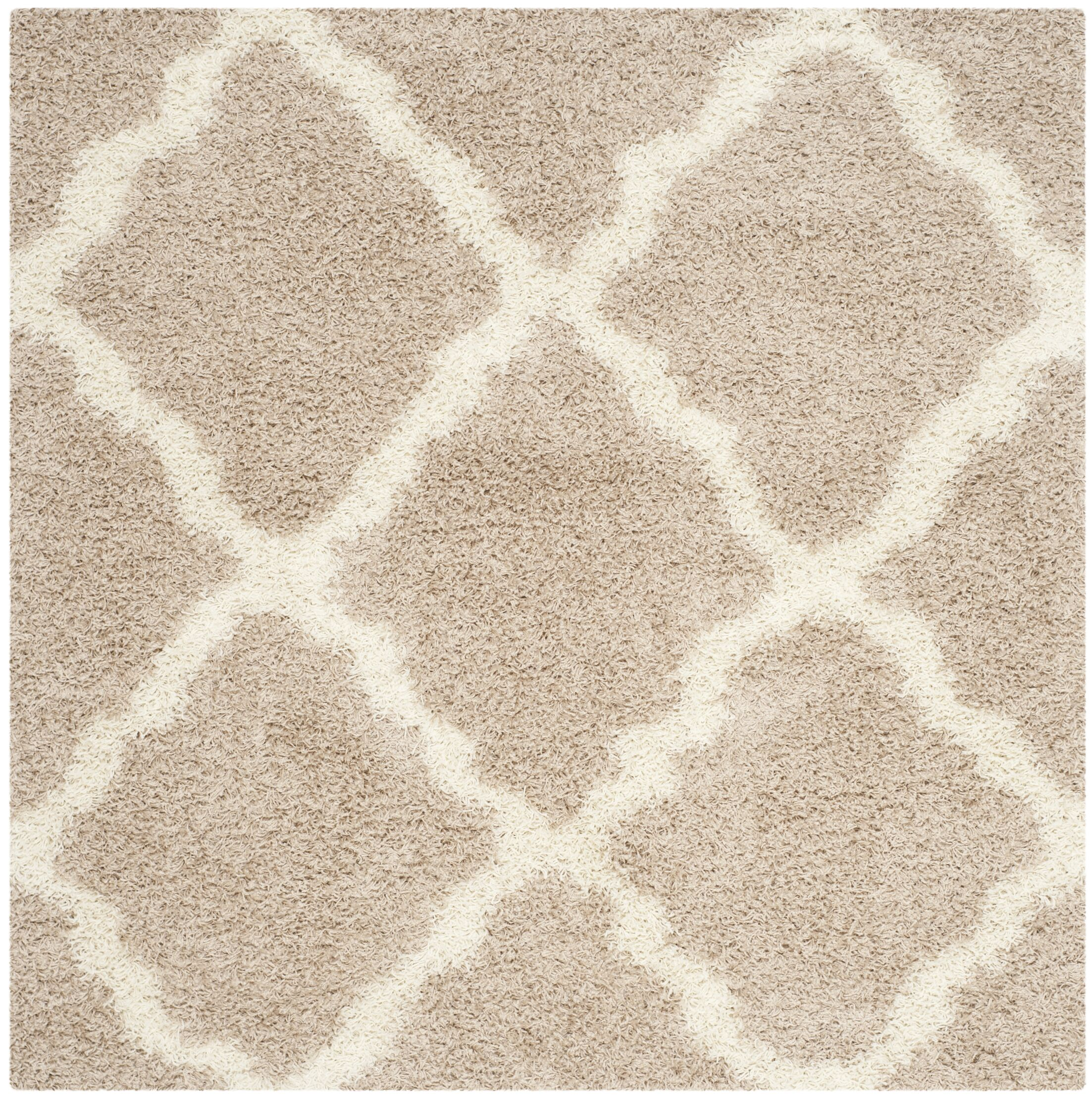 Fickes Beige/Ivory Area Rug Rug Size: Square 6'