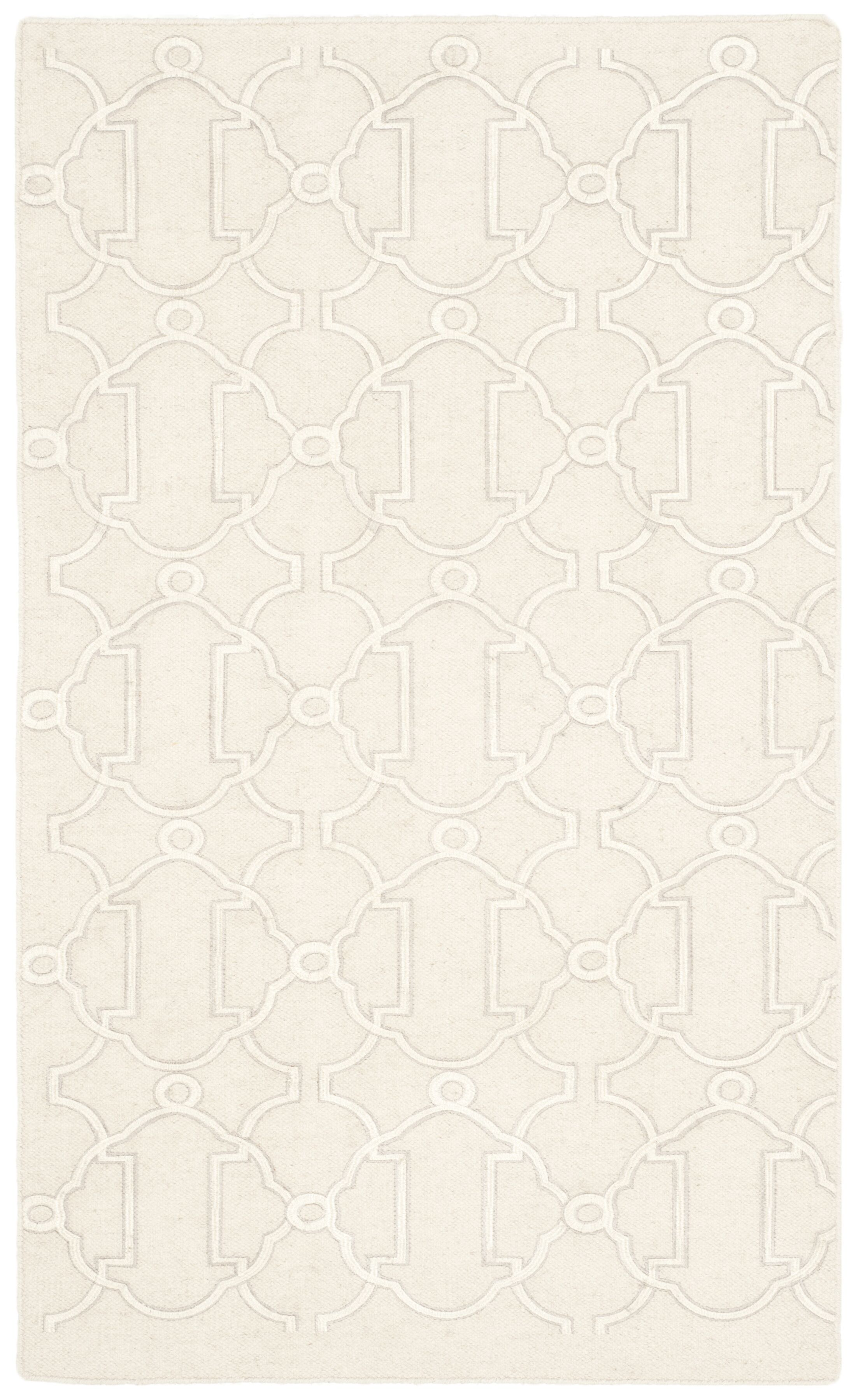 Dhurries Beige Area Rug Rug Size: Rectangle 3' x 5'