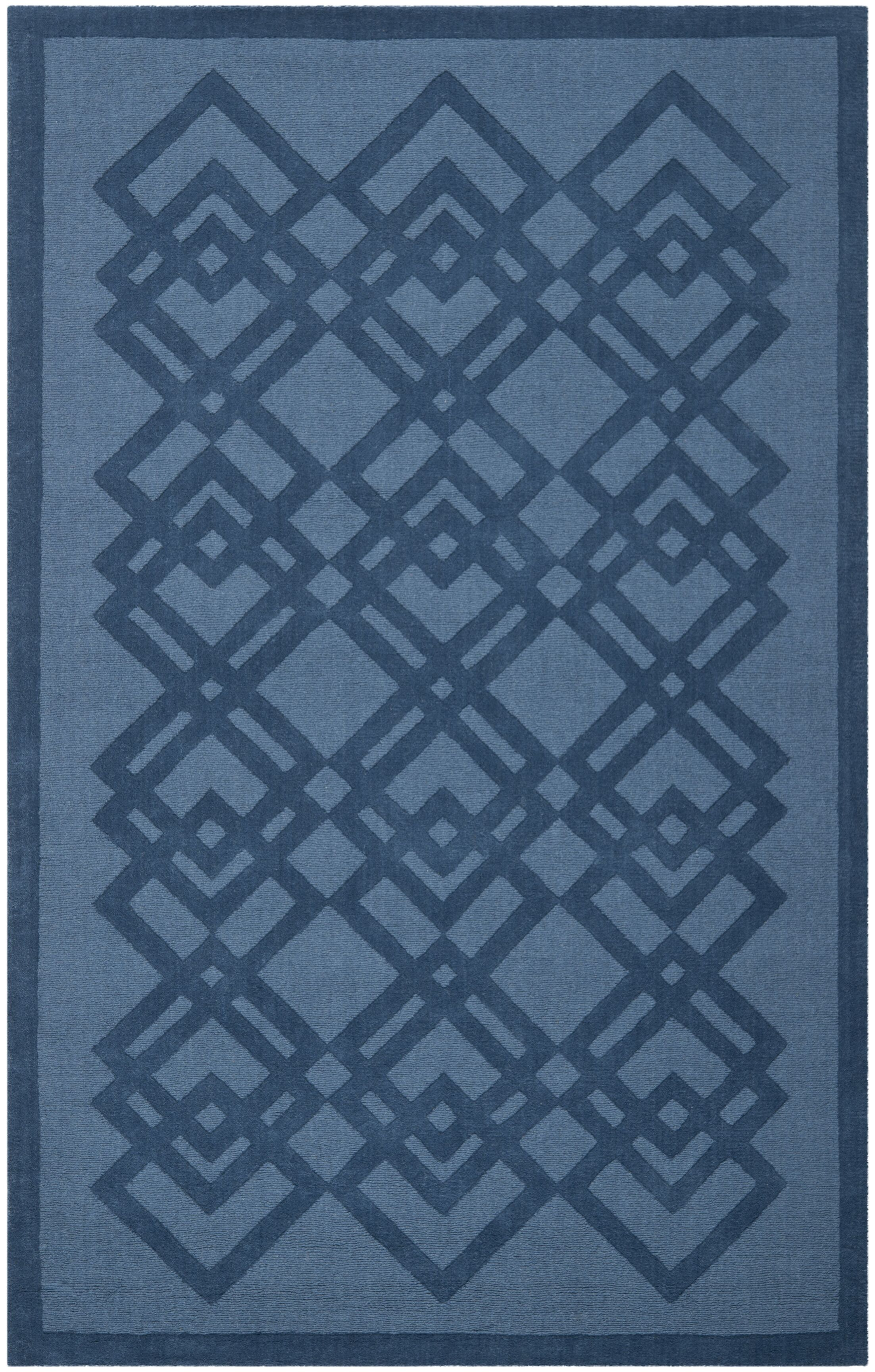 Viewpoint Carved Ink Area Rug Rug Size: Rectangle 8' x 10'
