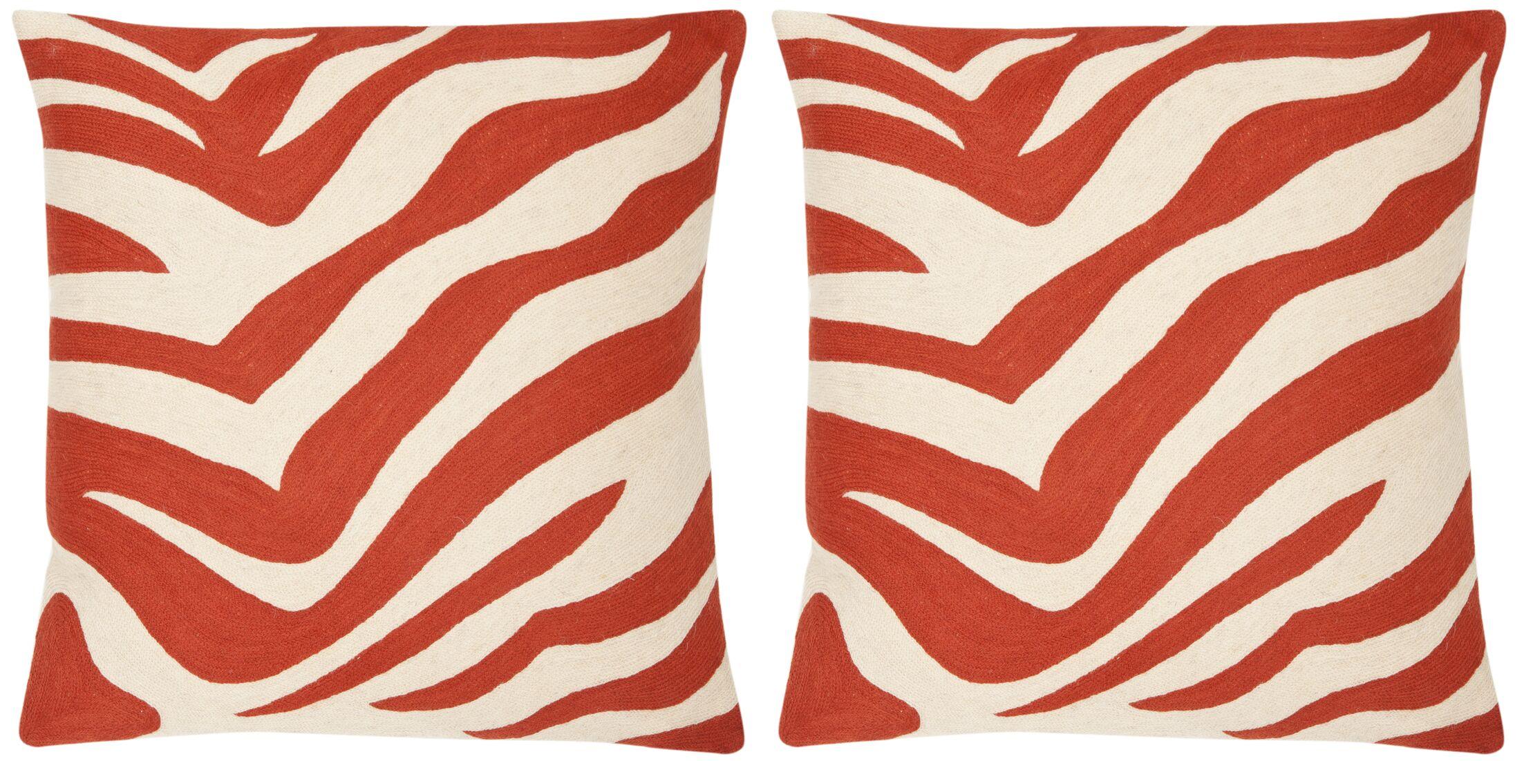 Jourdan Cotton Throw Pillow Color: Orange Sunburst, Size: 22