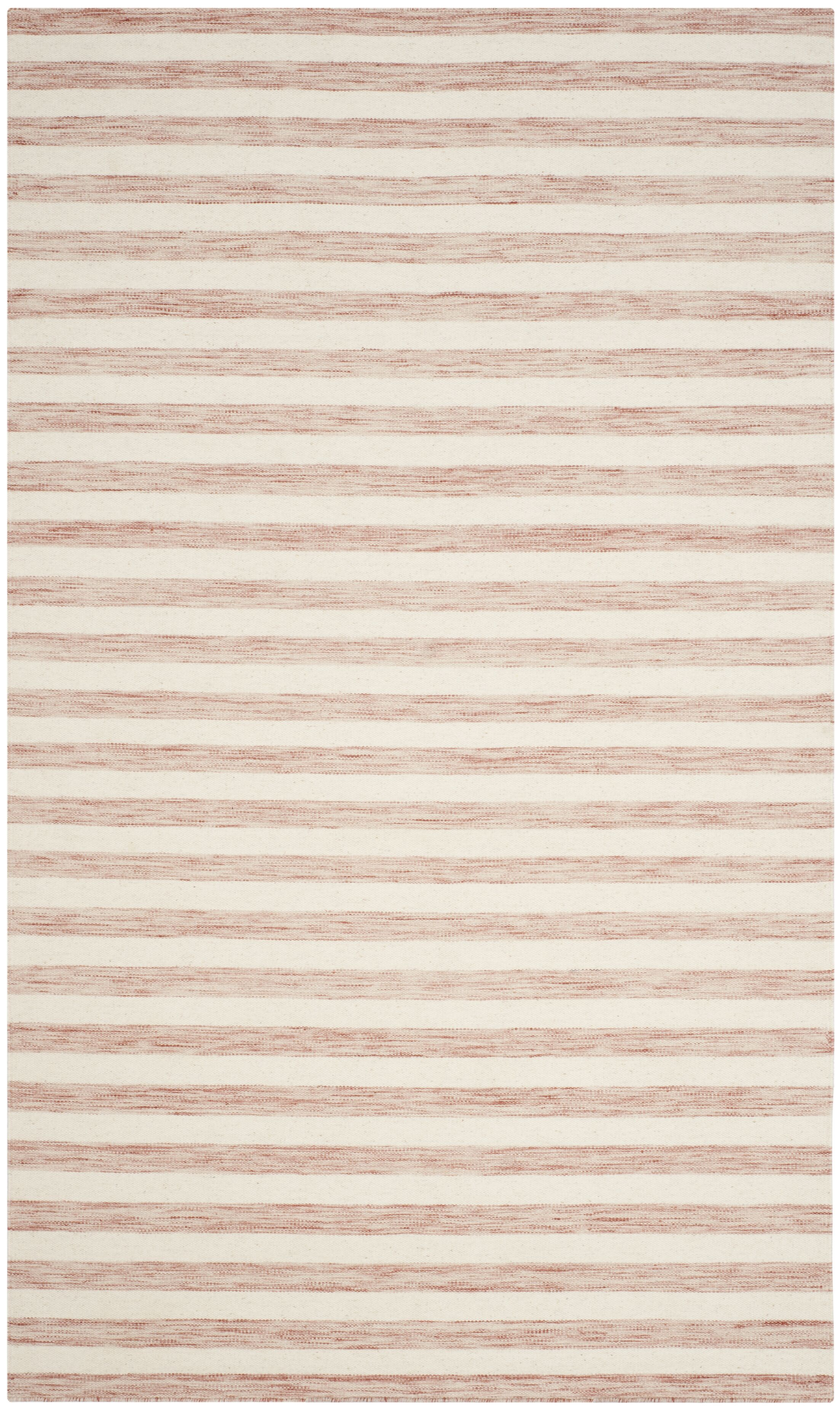 Dhurries Rust / Ivory Area Rug Rug Size: Rectangle 5' x 8'