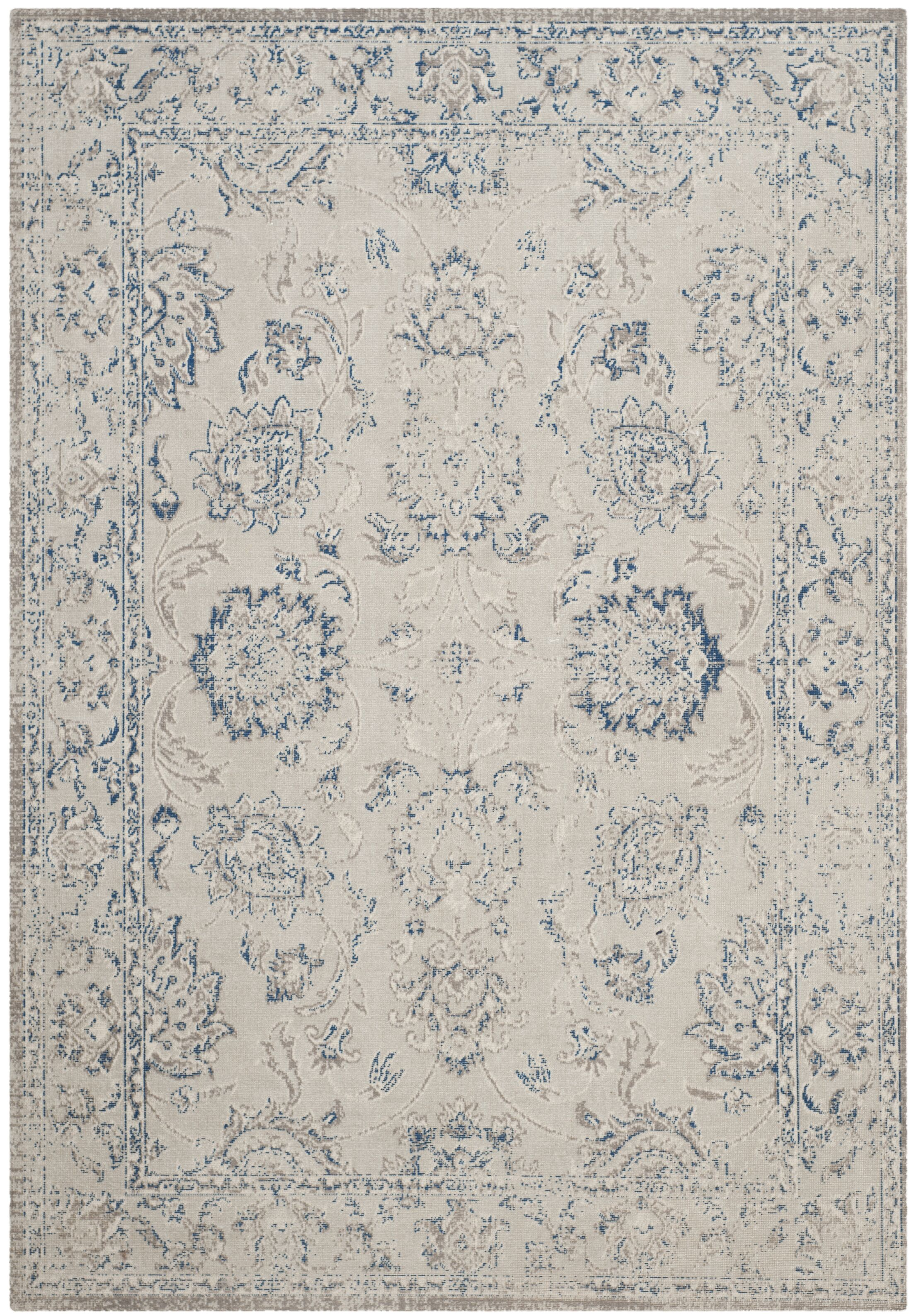 Nielsen Gray / Blue Area Rug Rug Size: Rectangle 5'1