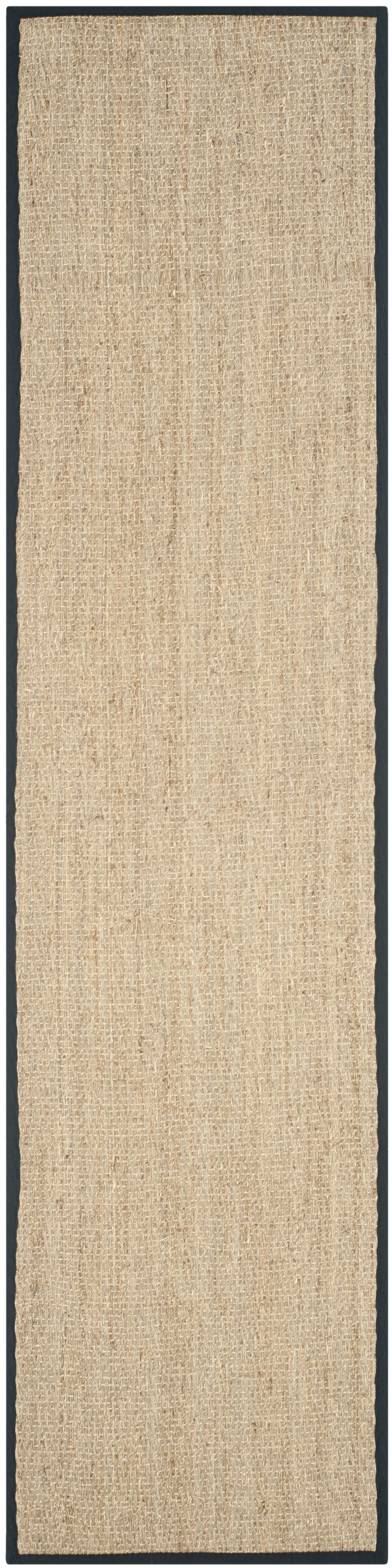 Staub Hand-Woven Natural/Black Area Rug Rug Size: Runner 2'6