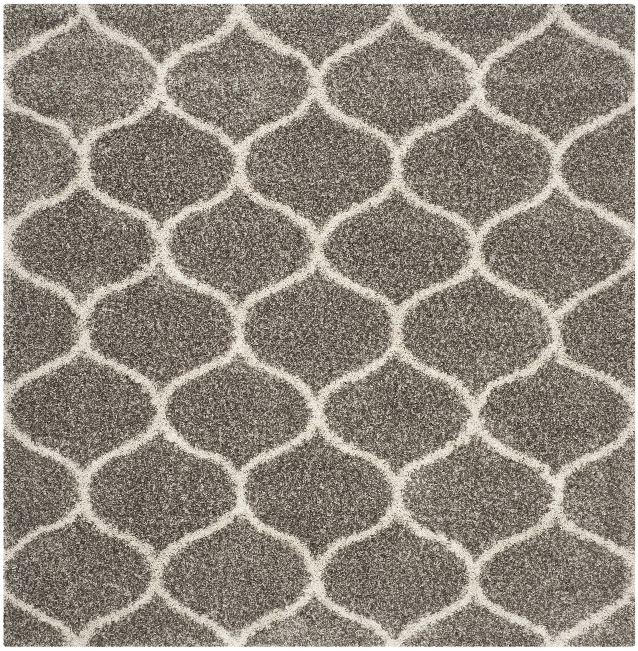 Elizabeth Street Gray/Ivory Area Rug Rug Size: Square 7' x 7'