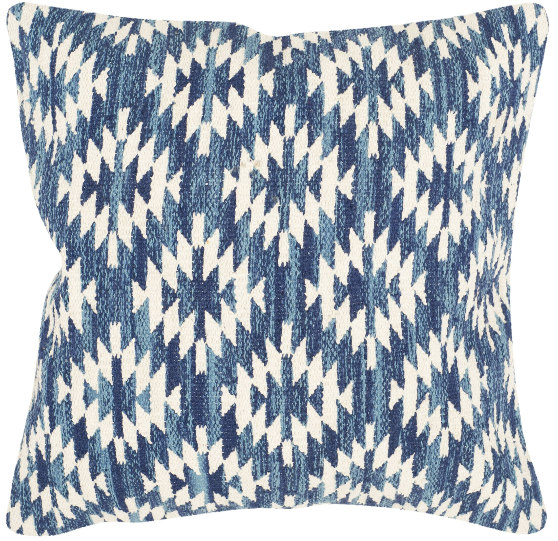 Southwest Cotton Throw Pillow Color: Blue